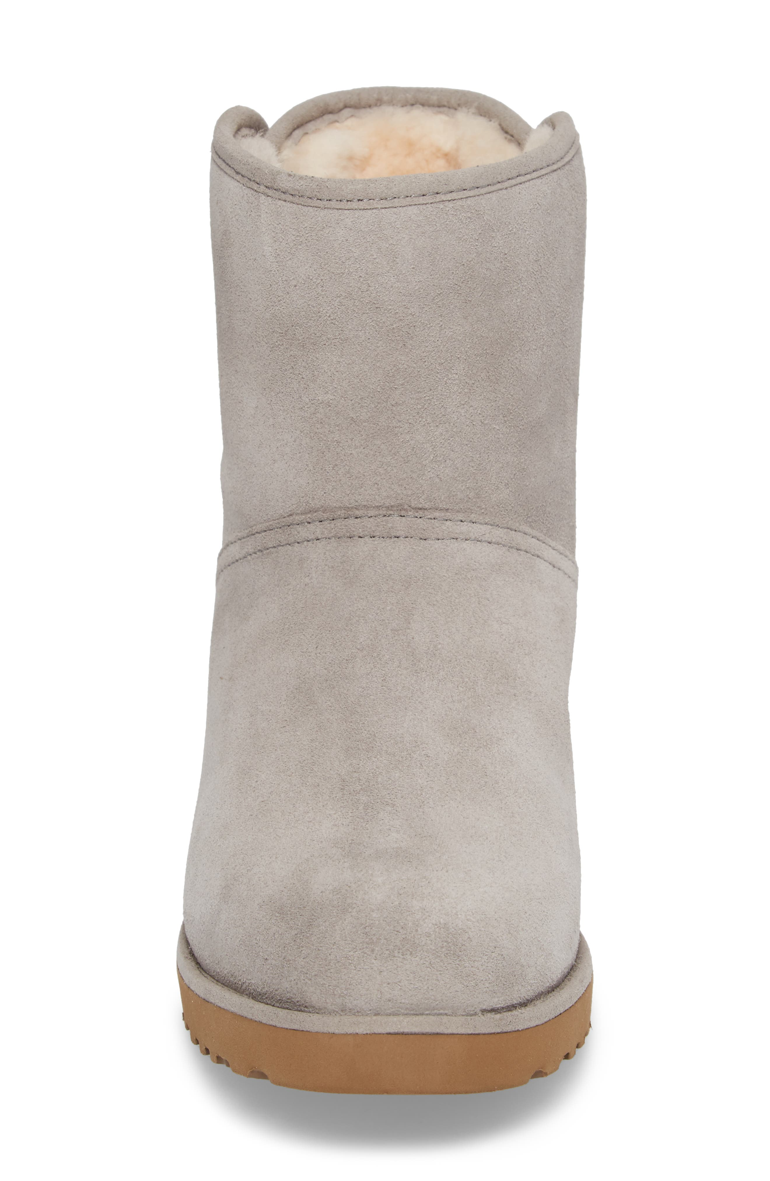 Drew Sunshine Perforated Tie Back Boot,                             Alternate thumbnail 4, color,                             Seal Suede