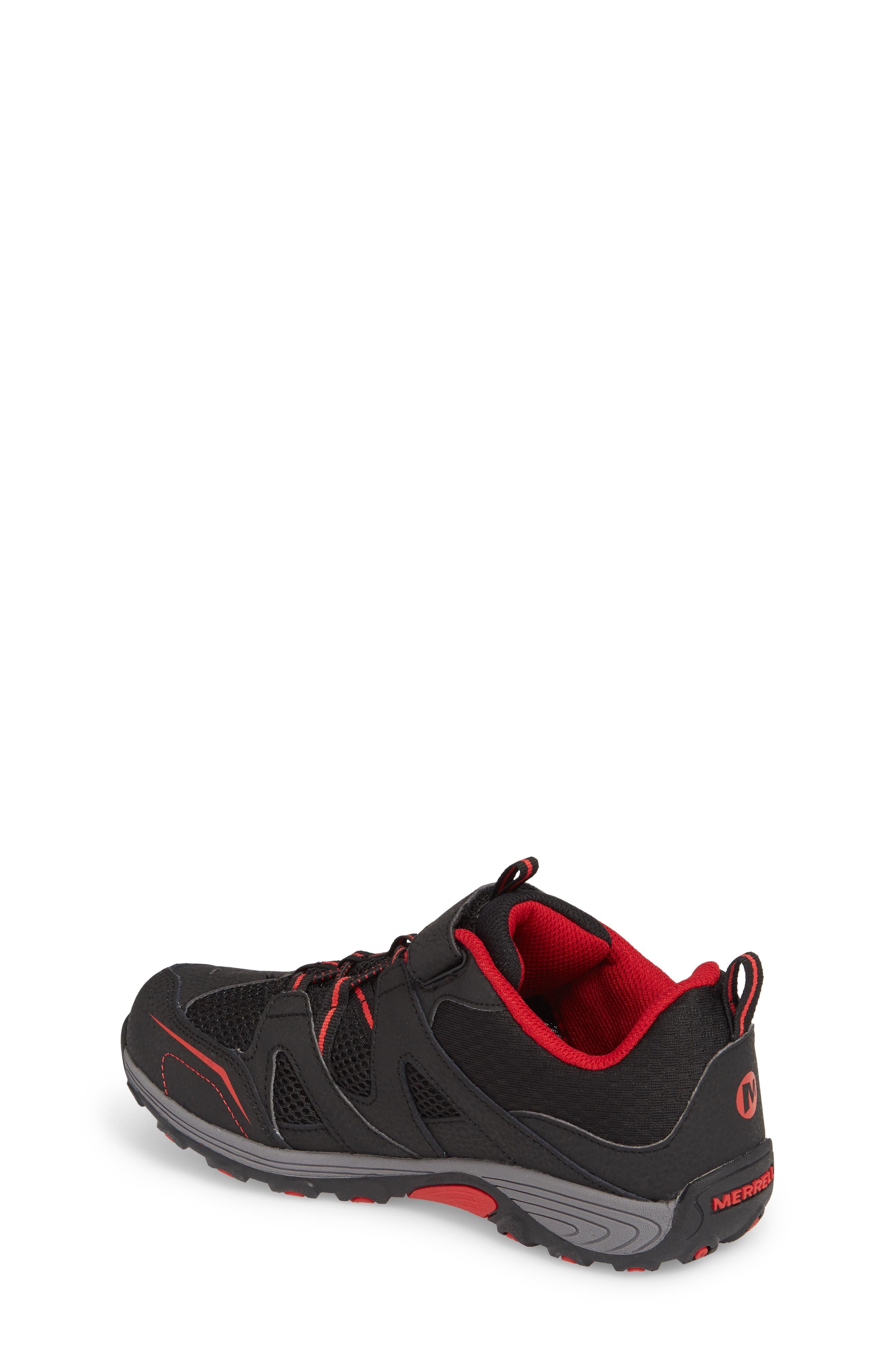 Trail Chaser Sneaker,                             Alternate thumbnail 2, color,                             Black/ Red