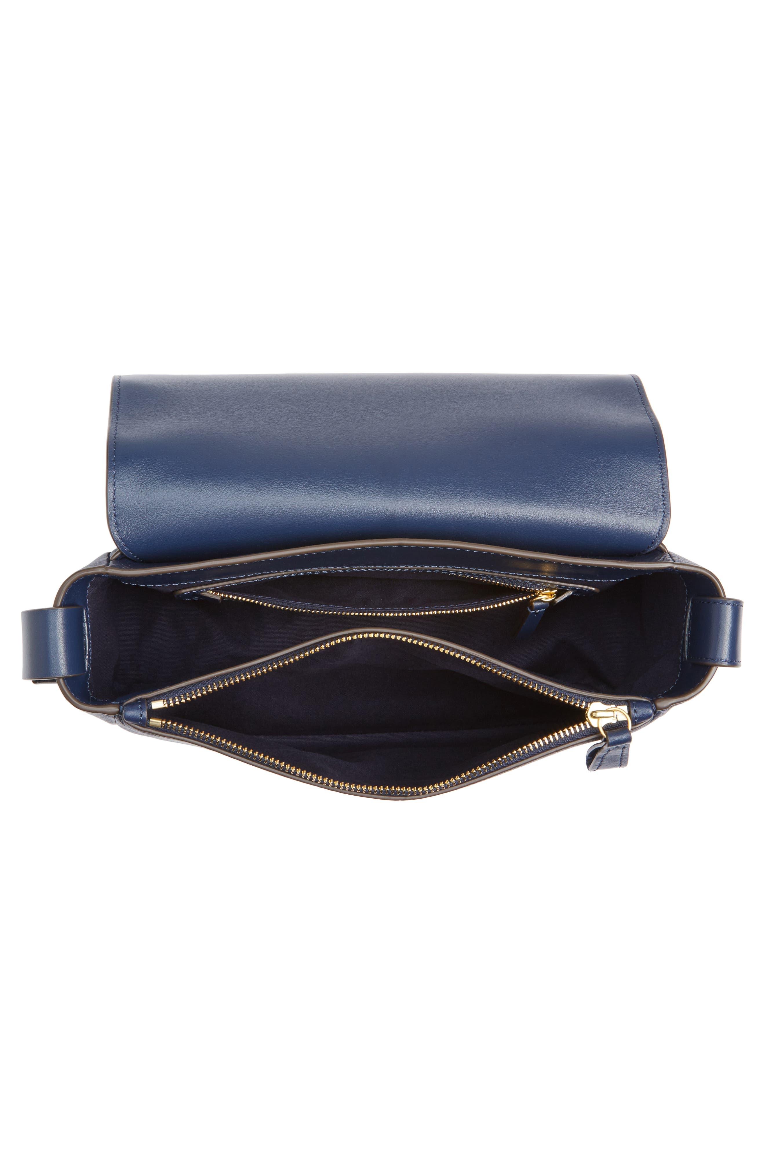 Alternate Image 4  - Tory Burch Block-T Pebbled Leather Shoulder Bag