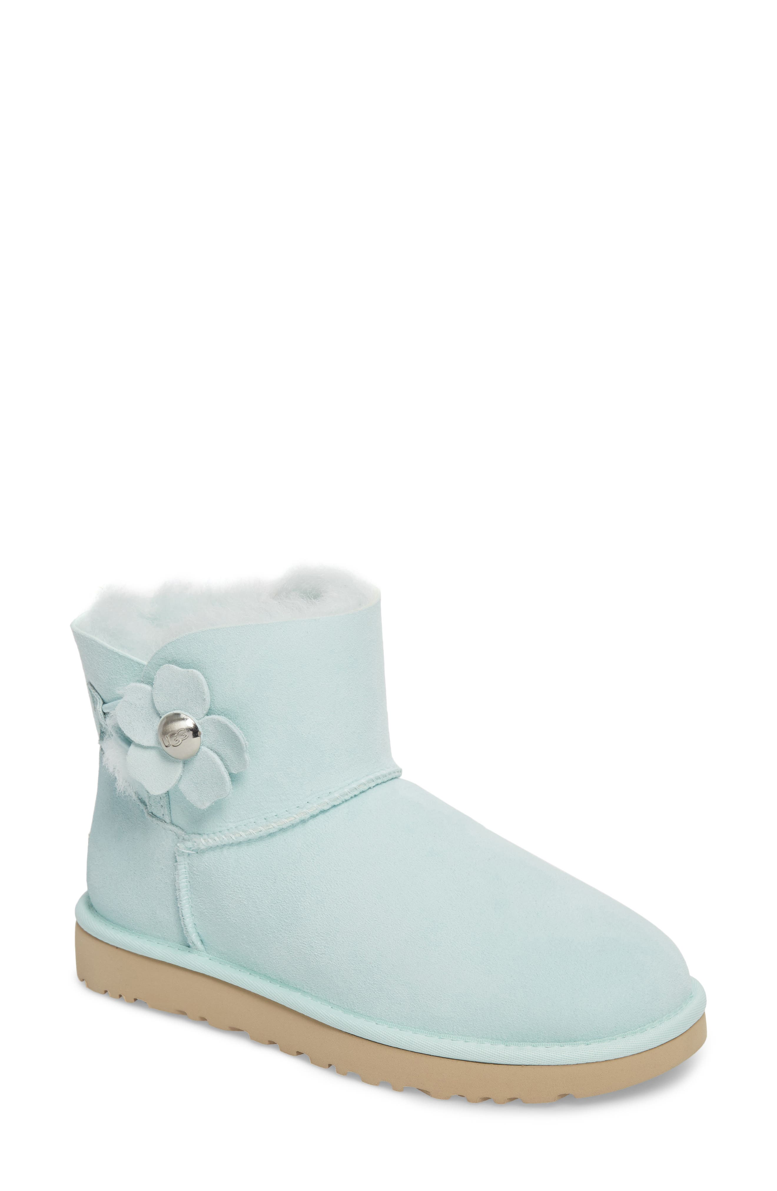Alternate Image 1 Selected - UGG® Mini Bailey Button Poppy Boot (Women)