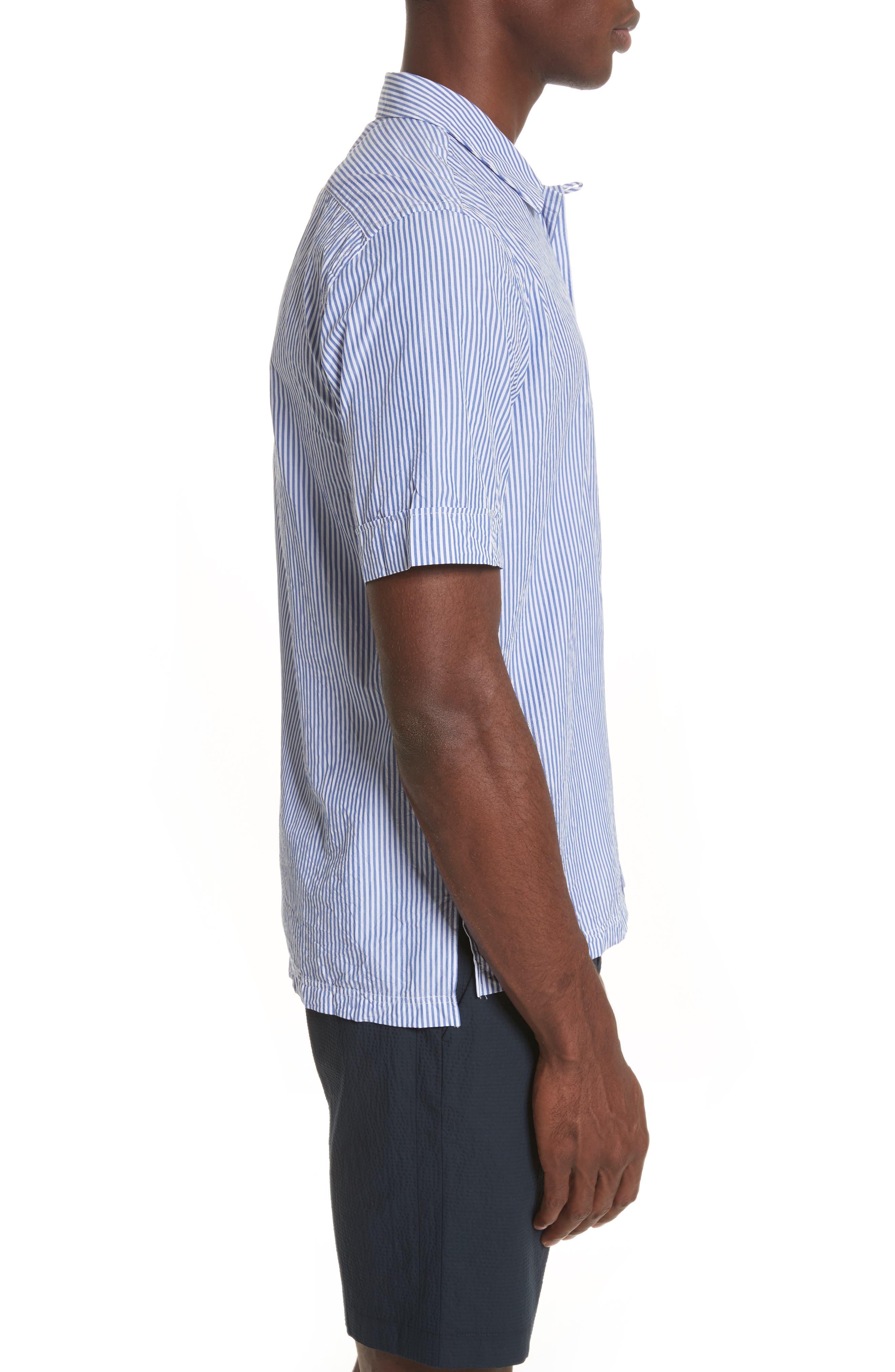 Stripe Seersucker Camp Shirt,                             Alternate thumbnail 3, color,                             41 Blue Multi