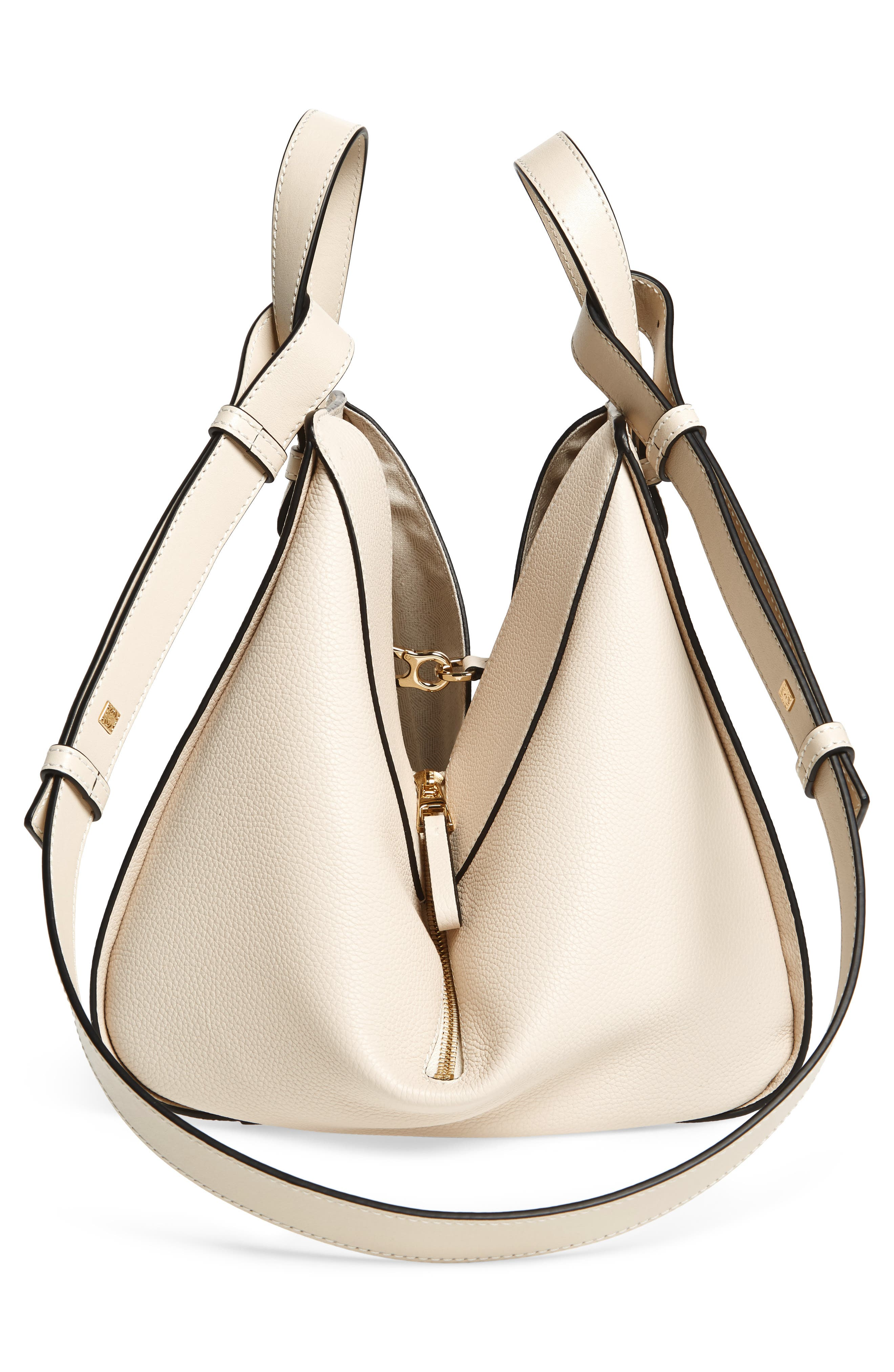 Small Hammock Tricolor Pebbled Leather Hobo,                             Alternate thumbnail 6, color,                             Ivory