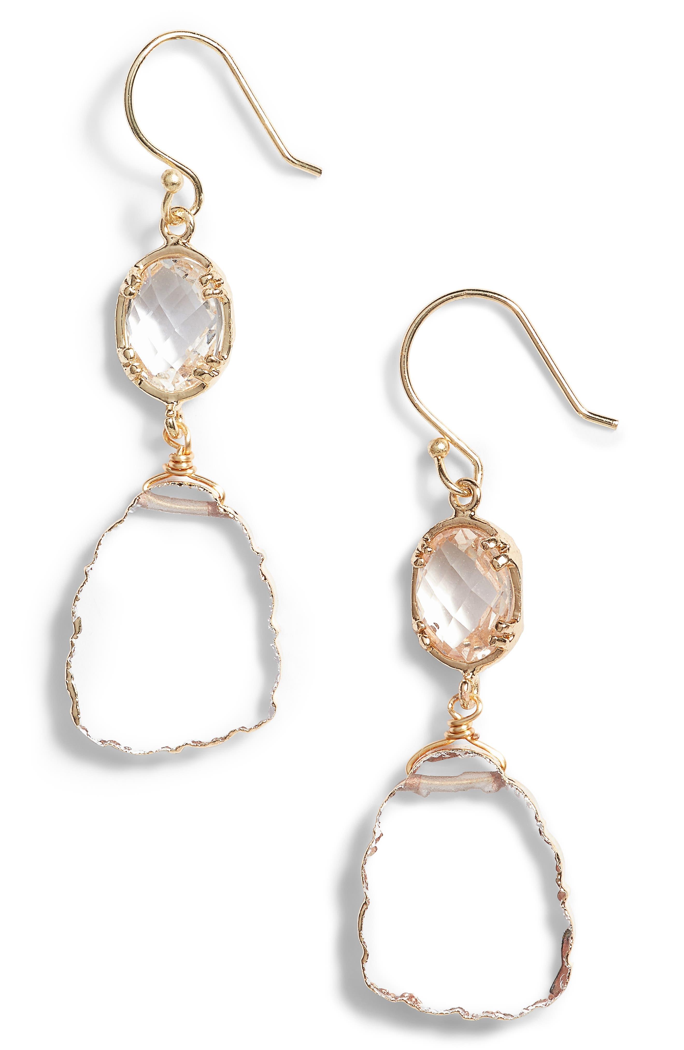 Main Image - Serefina Double Drop Earrings