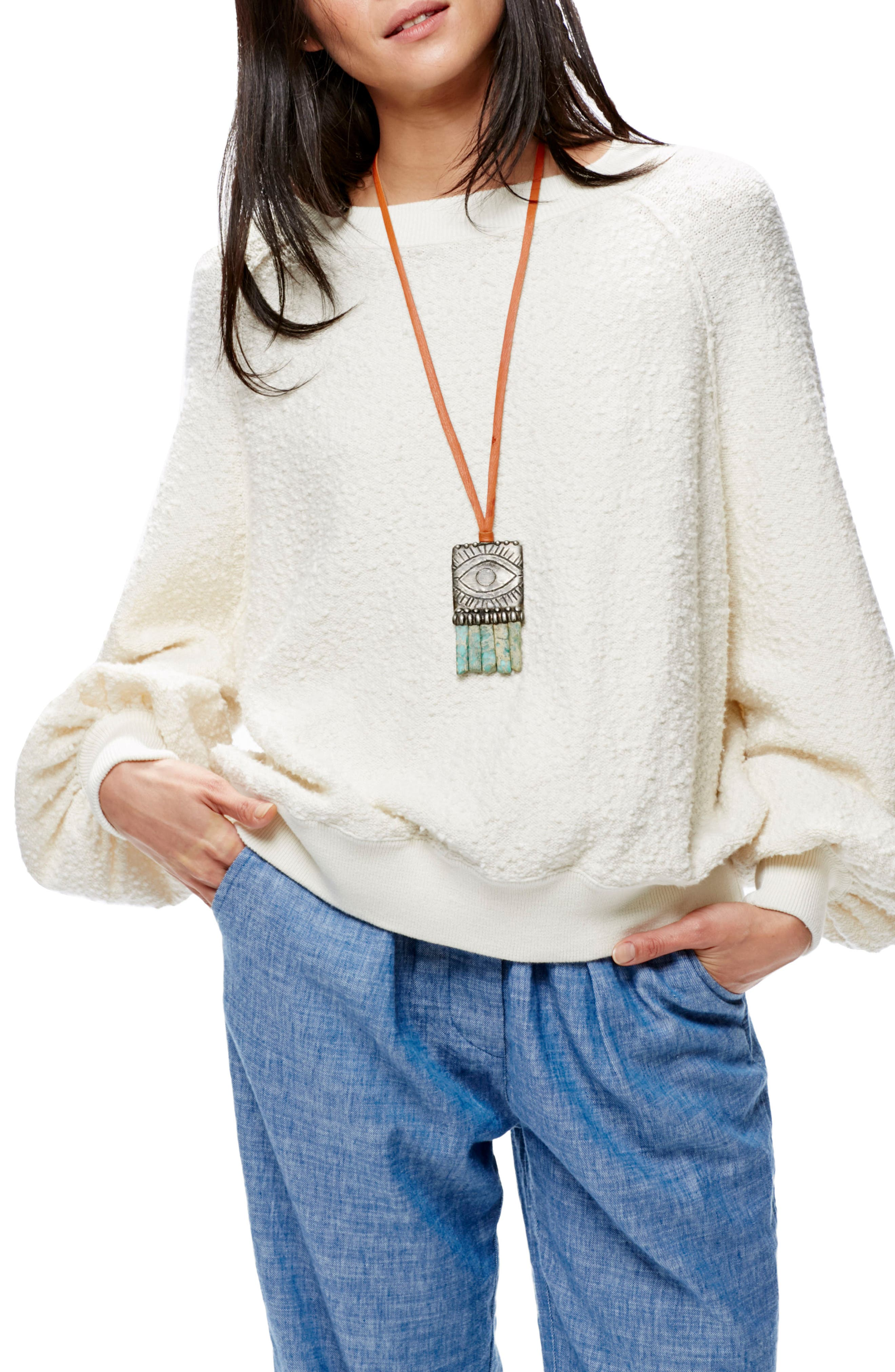 Found My Friend Sweatshirt,                         Main,                         color, Ivory