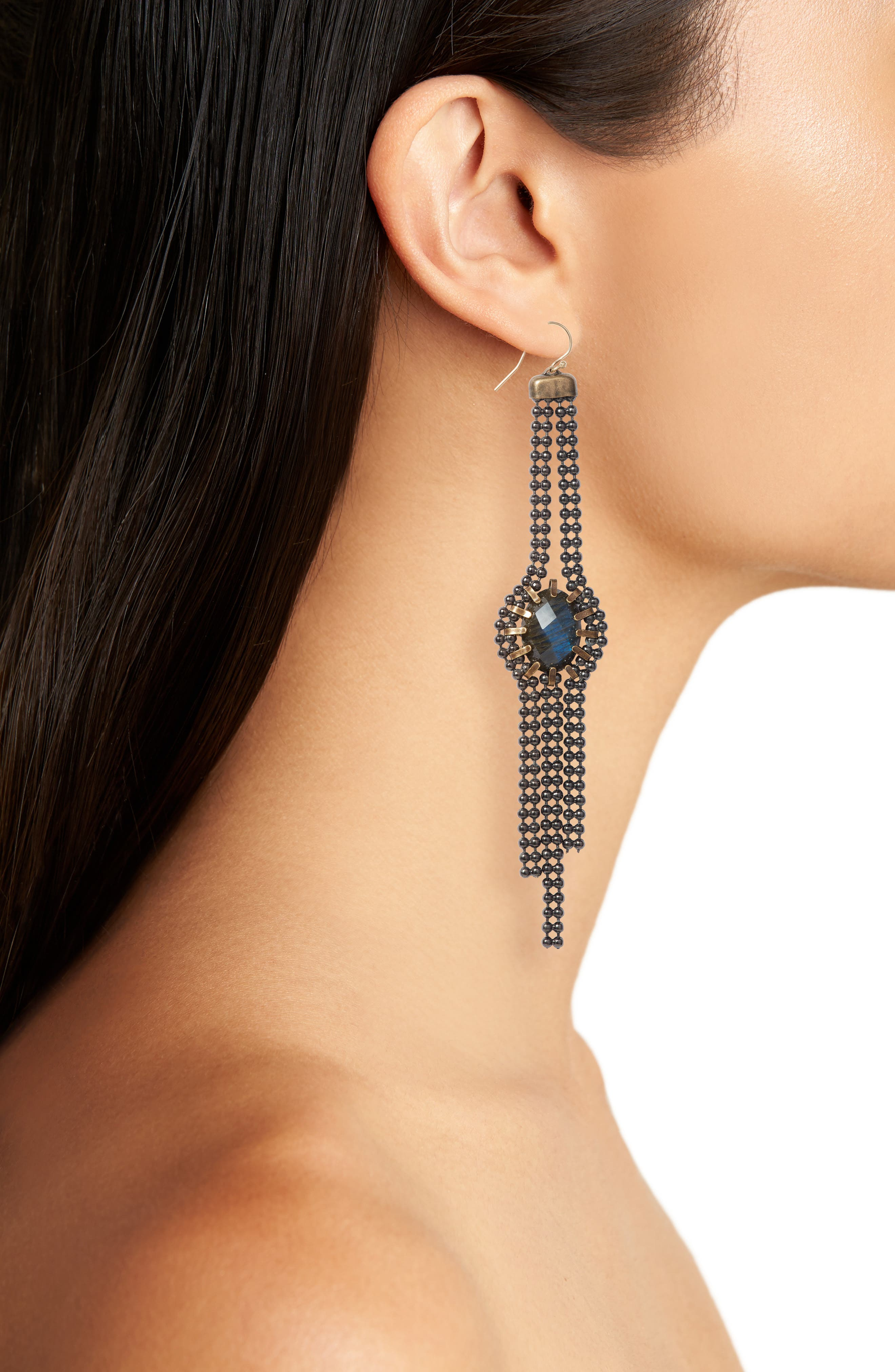 Alternate Image 2  - Cynthia Desser Labradorite Drop Earrings