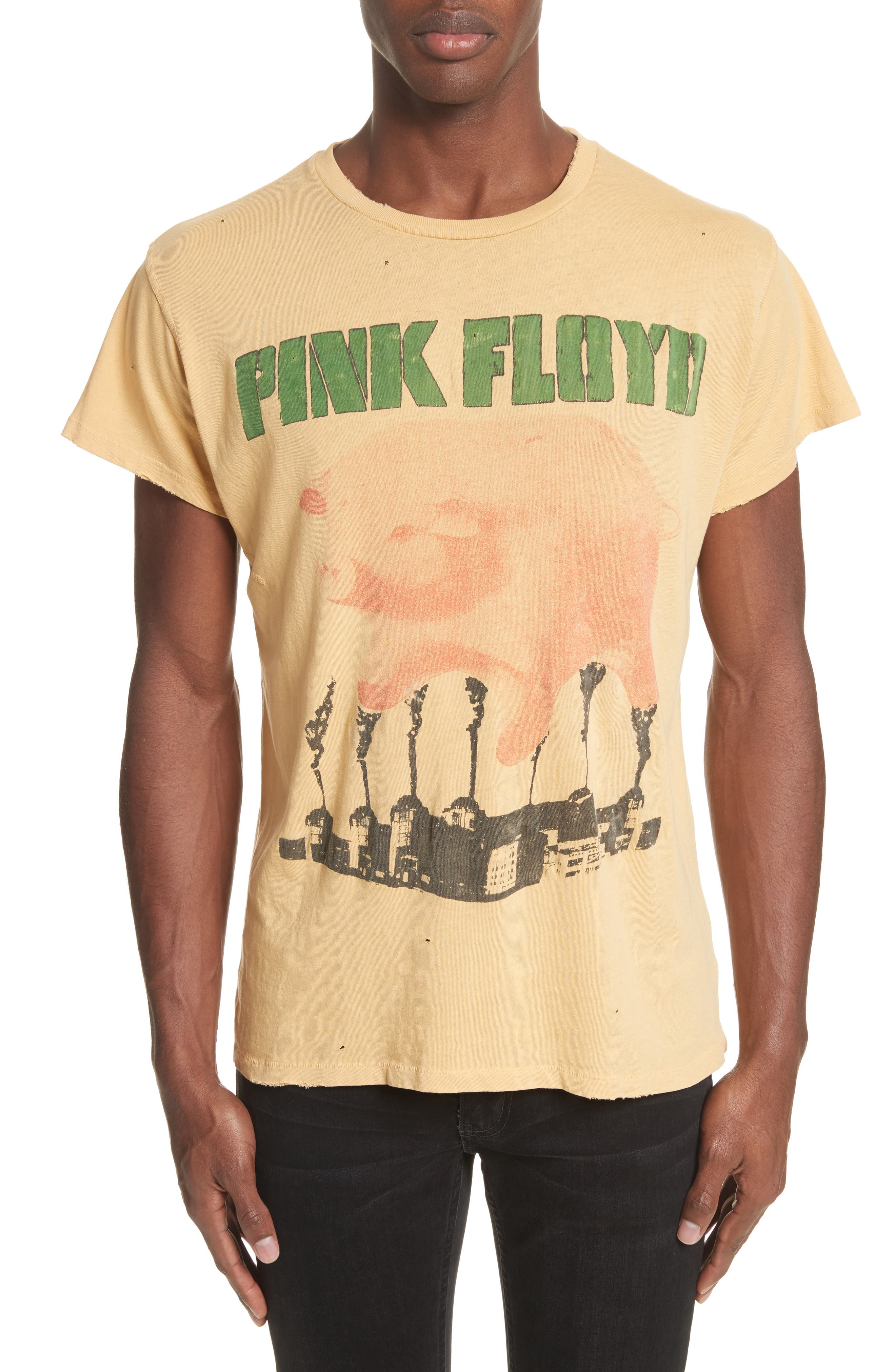 Pink Floyd Graphic T-Shirt,                         Main,                         color, Washed Yellow