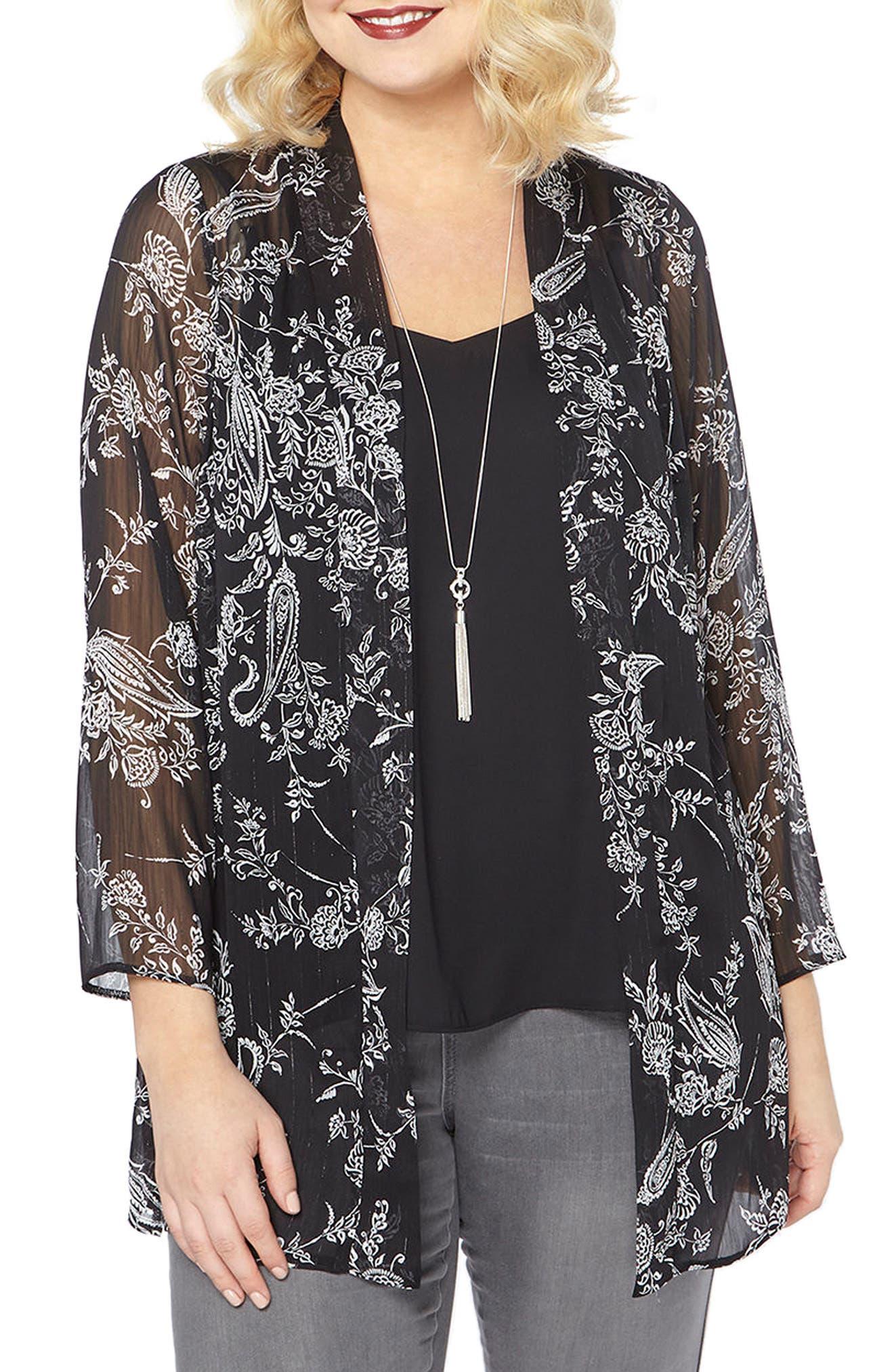 Womens Paisley Kimono Blouse EVANS Discount 2018 New Sale Discount Discount Release Dates DSg3ofOoj8