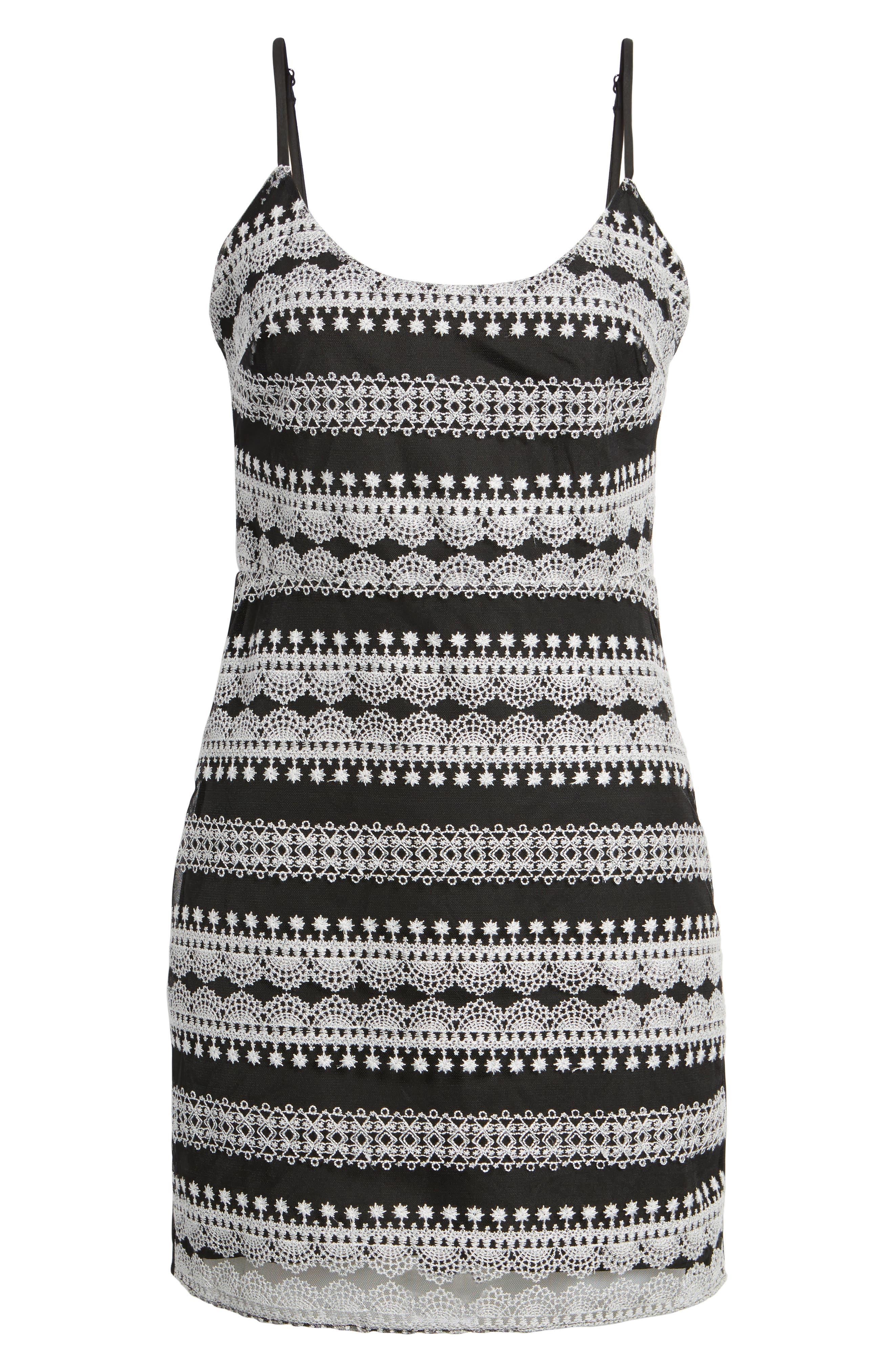 Randy Body-Con Dress,                             Alternate thumbnail 6, color,                             Black/ White