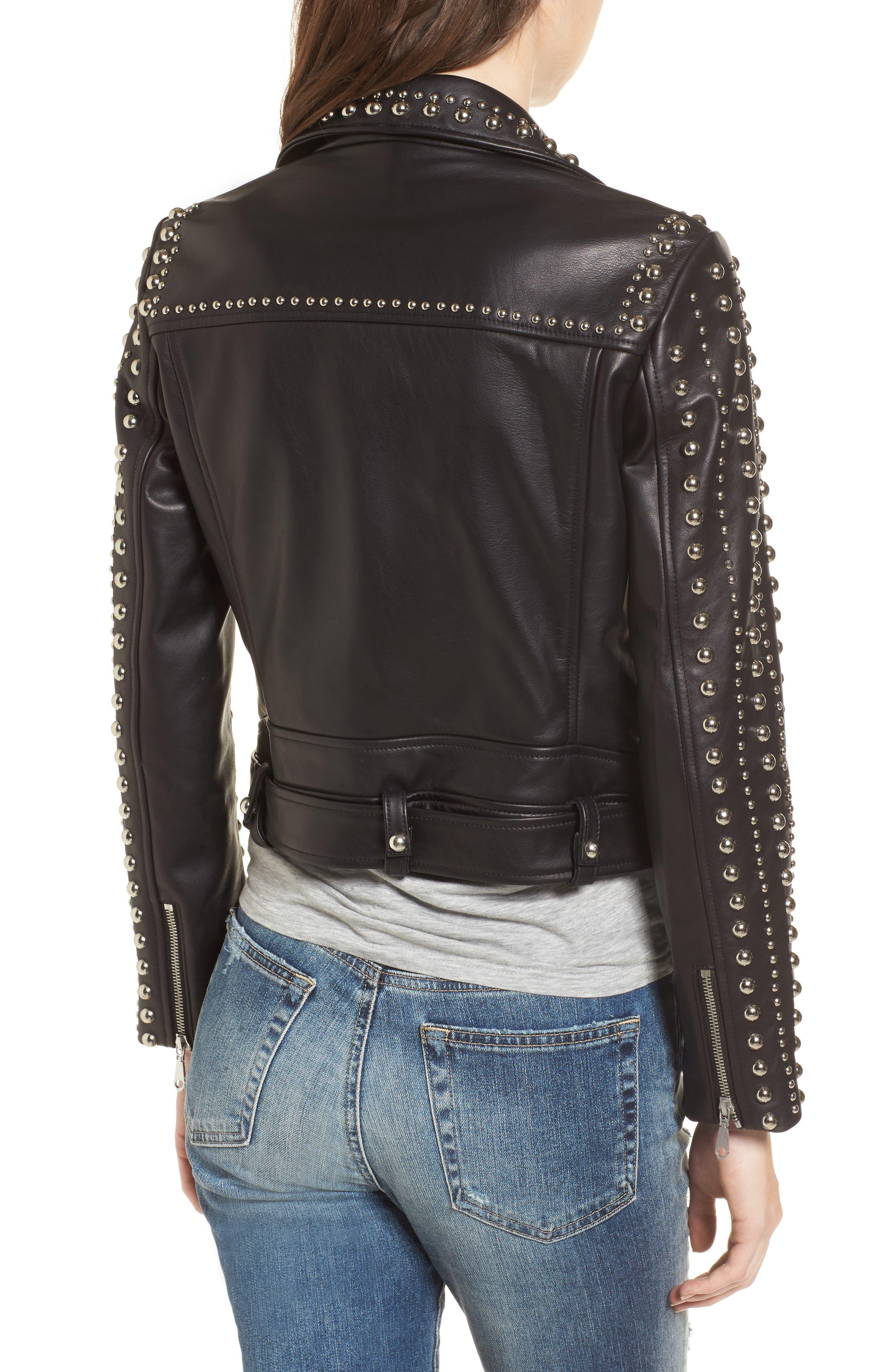 Alternate Image 2  - Rebecca Minkoff Adelia Leather Moto Jacket