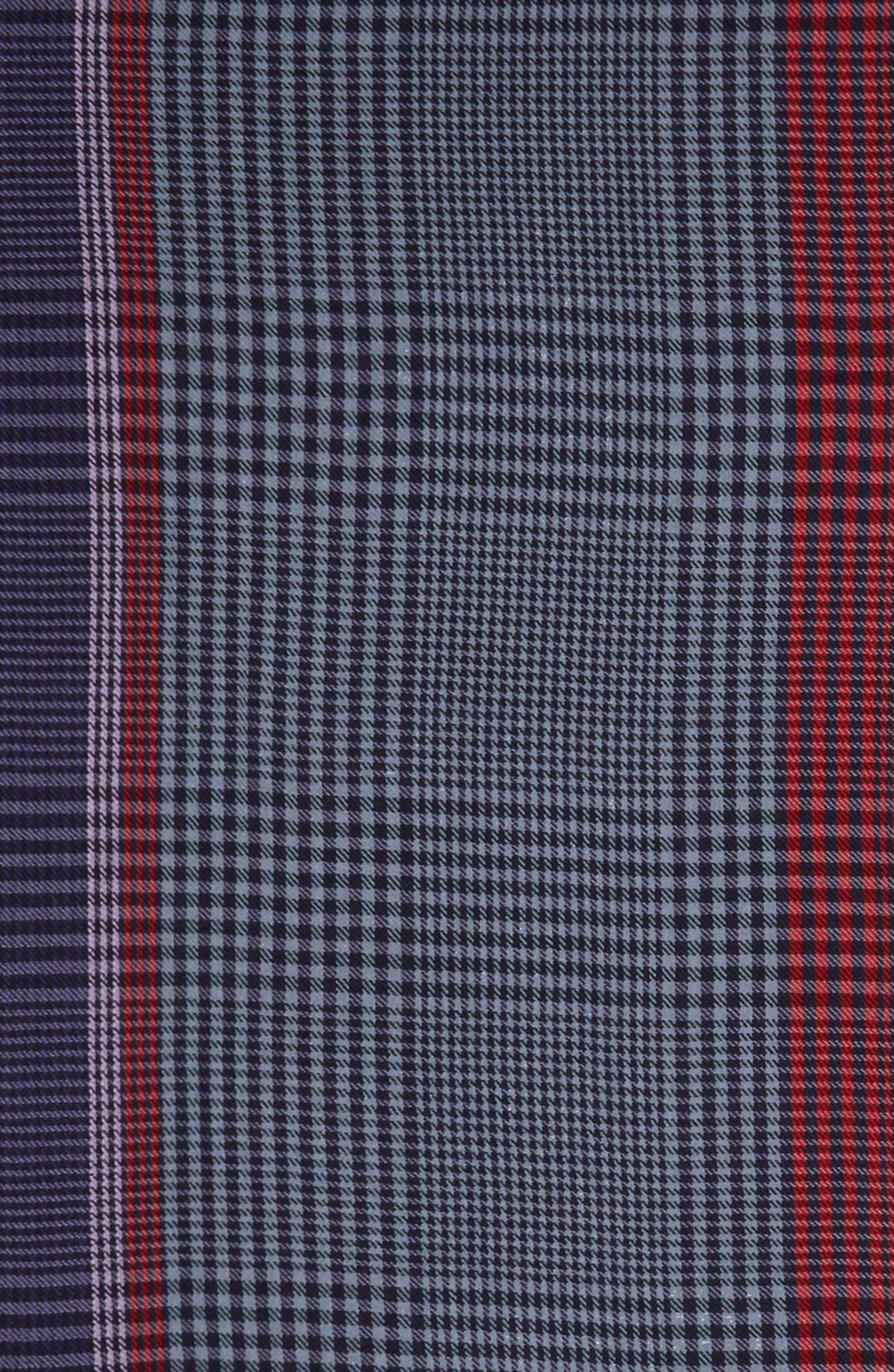 Multicolor Check Scarf,                             Alternate thumbnail 2, color,                             Blue/ Red Multi