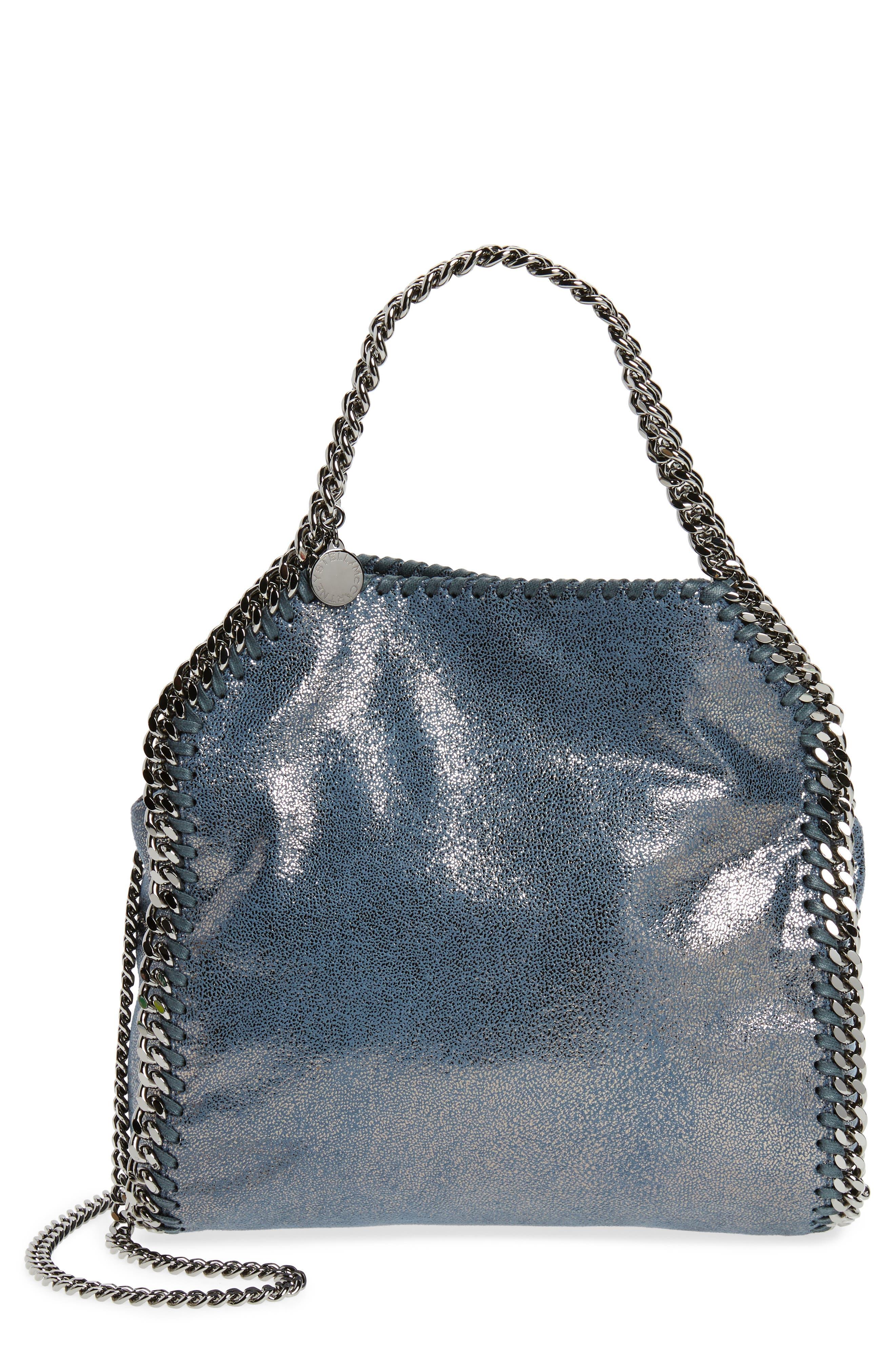 Main Image - Stella McCartney Mini Falabella Shaggy Deer Metallic Faux Leather Tote