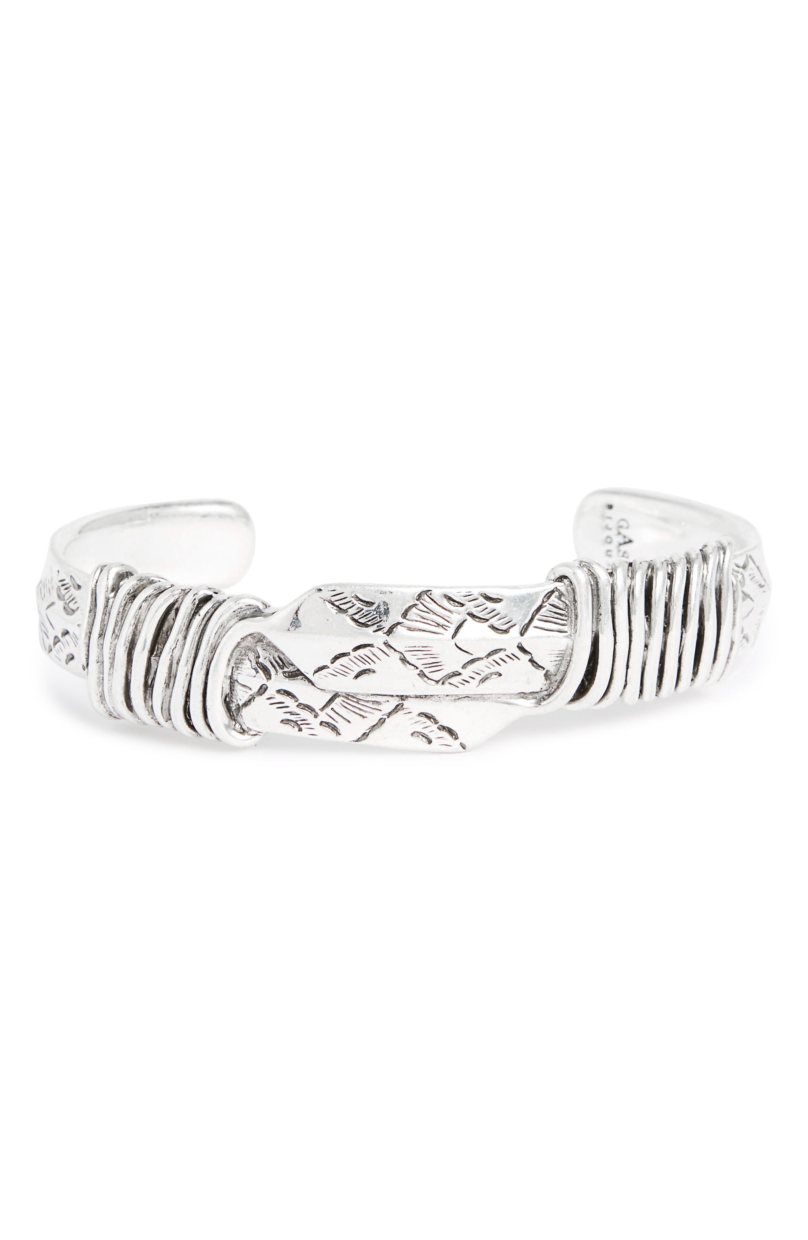Arrow Cuff Bracelet,                         Main,                         color, Silver