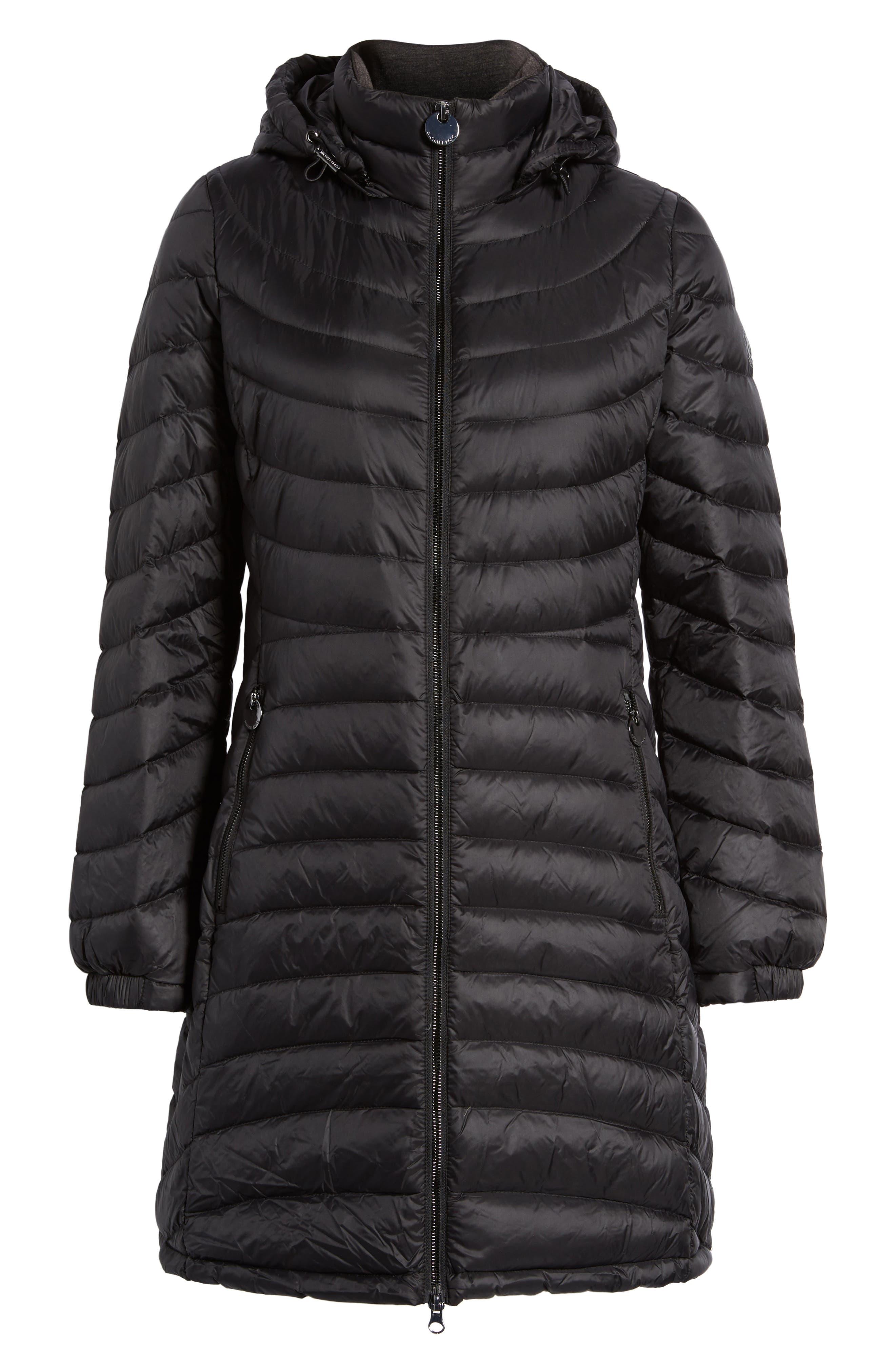 MICHAEL Michael Kors Hooded Down Coat (Regular & Petite)