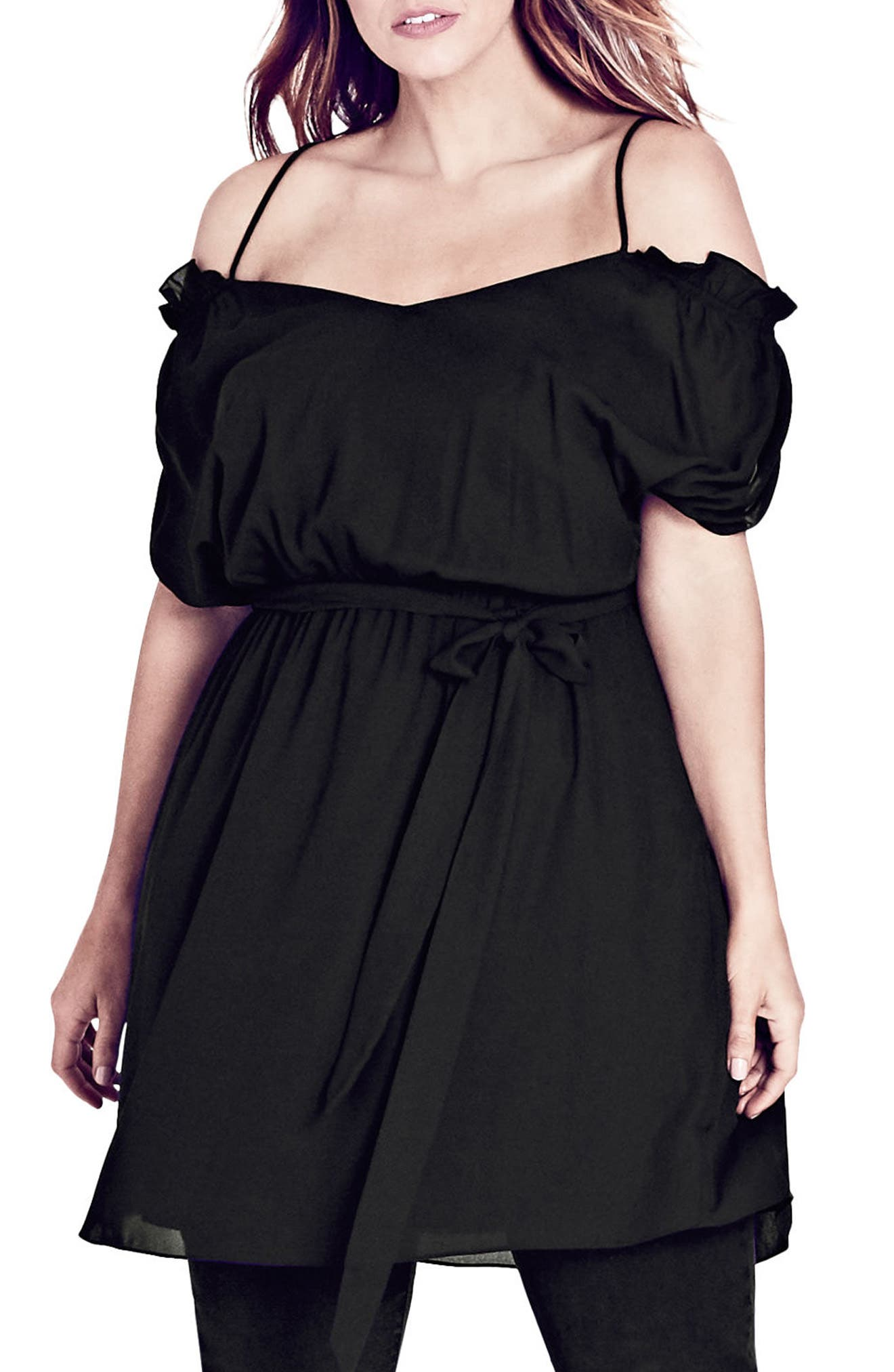 Main Image - City Chic Strapped Up Tunic (Plus Size)