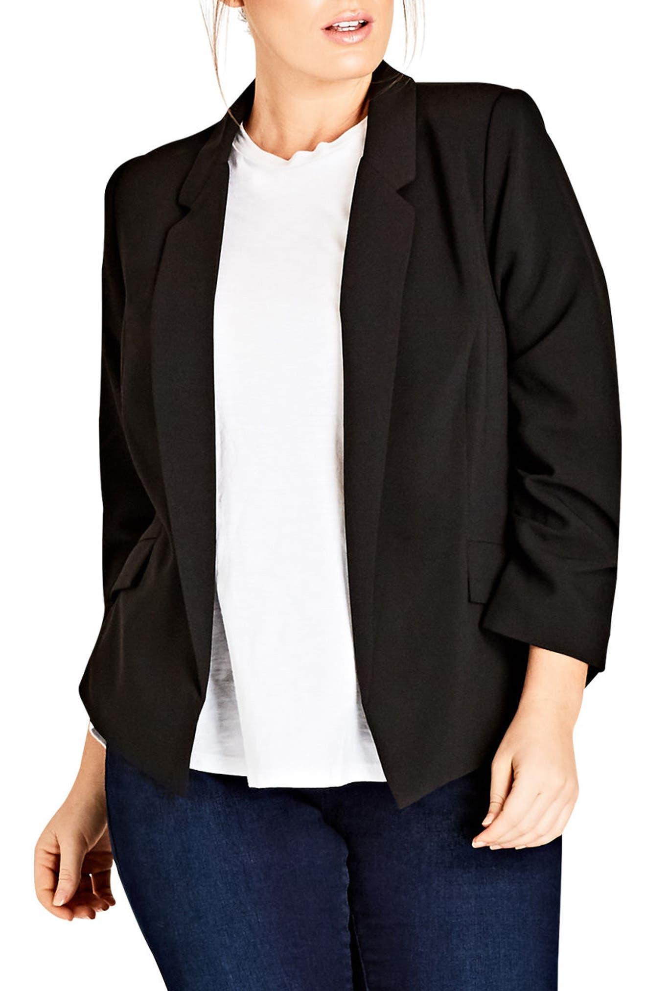 Classy Lady Jacket,                         Main,                         color, Black