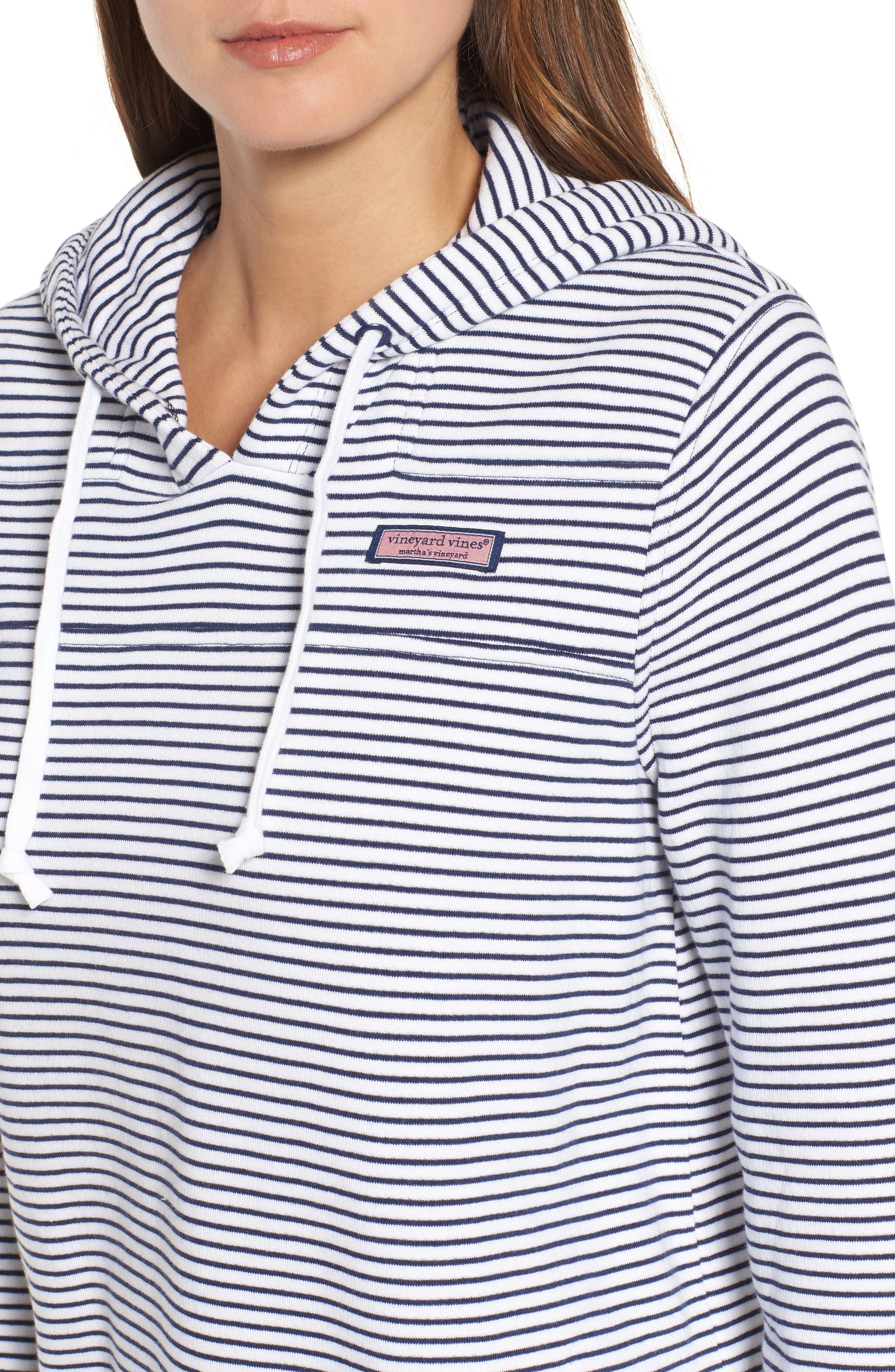 Island Stripe Shep Hoodie Shirt,                             Alternate thumbnail 4, color,                             Deep Bay