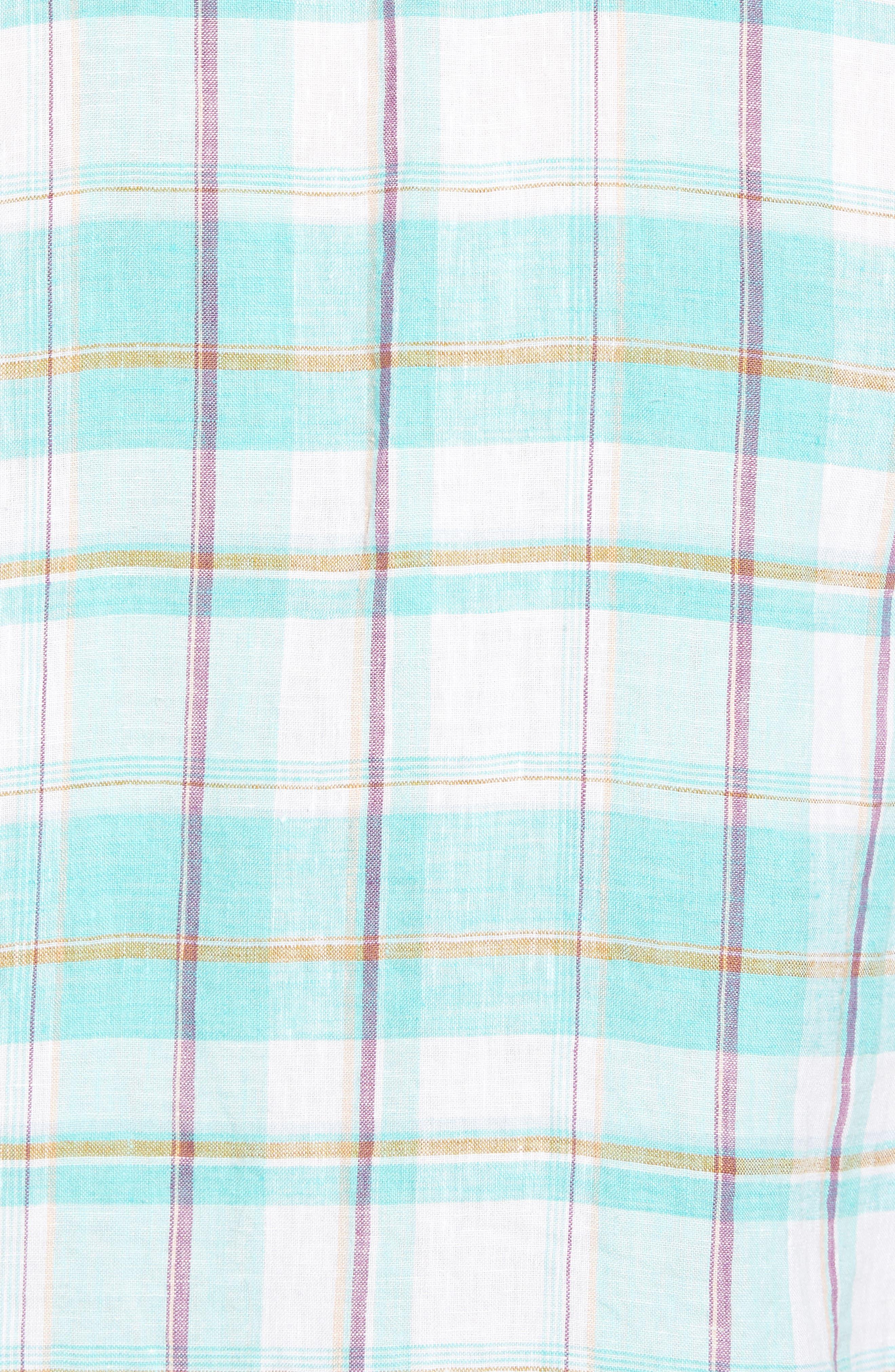 Lauderdale Regular Fit Sport Shirt,                             Alternate thumbnail 5, color,                             Dusty Aqua