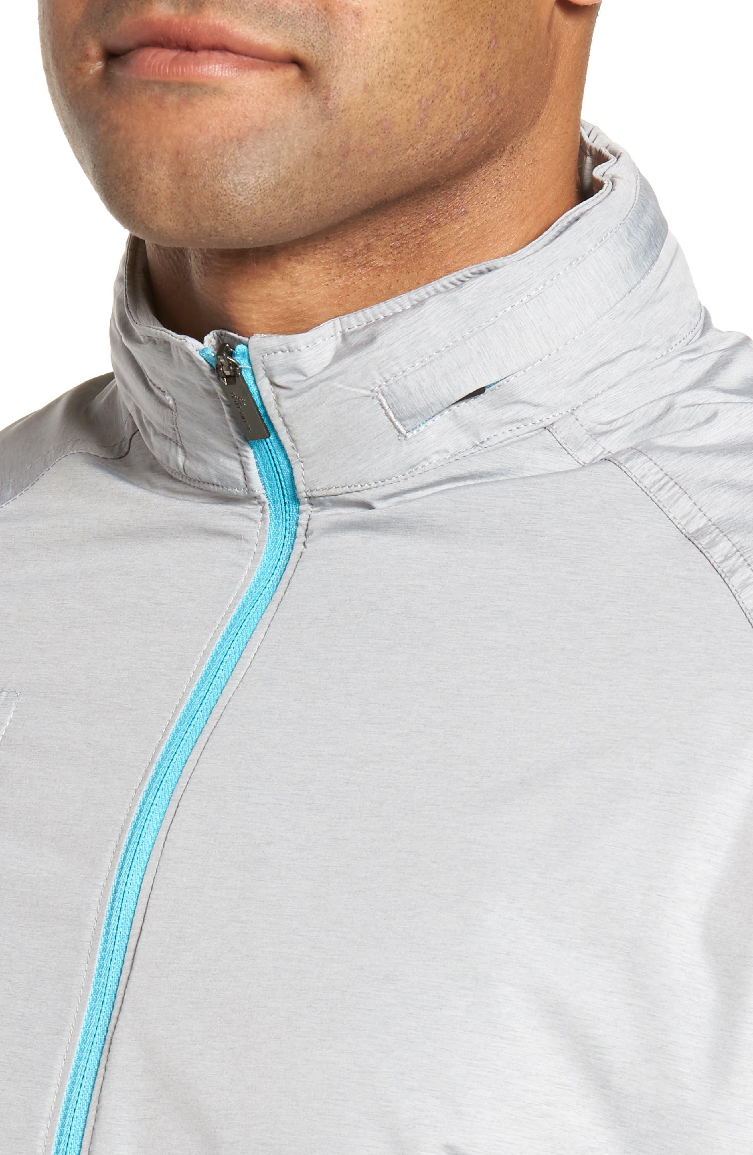Nagano Windbreaker Jacket,                             Alternate thumbnail 4, color,                             British Grey