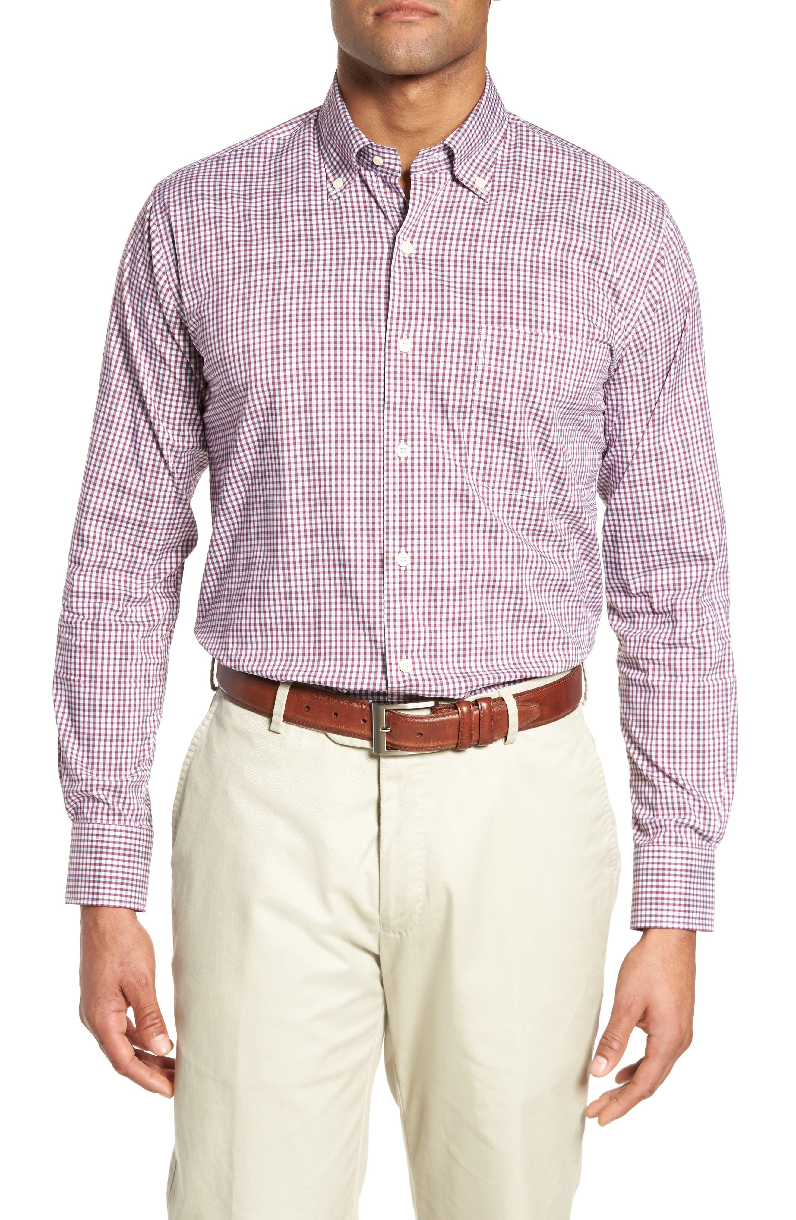 Diamond Head Regular Fit Gingham Sport Shirt,                         Main,                         color, Pulpo
