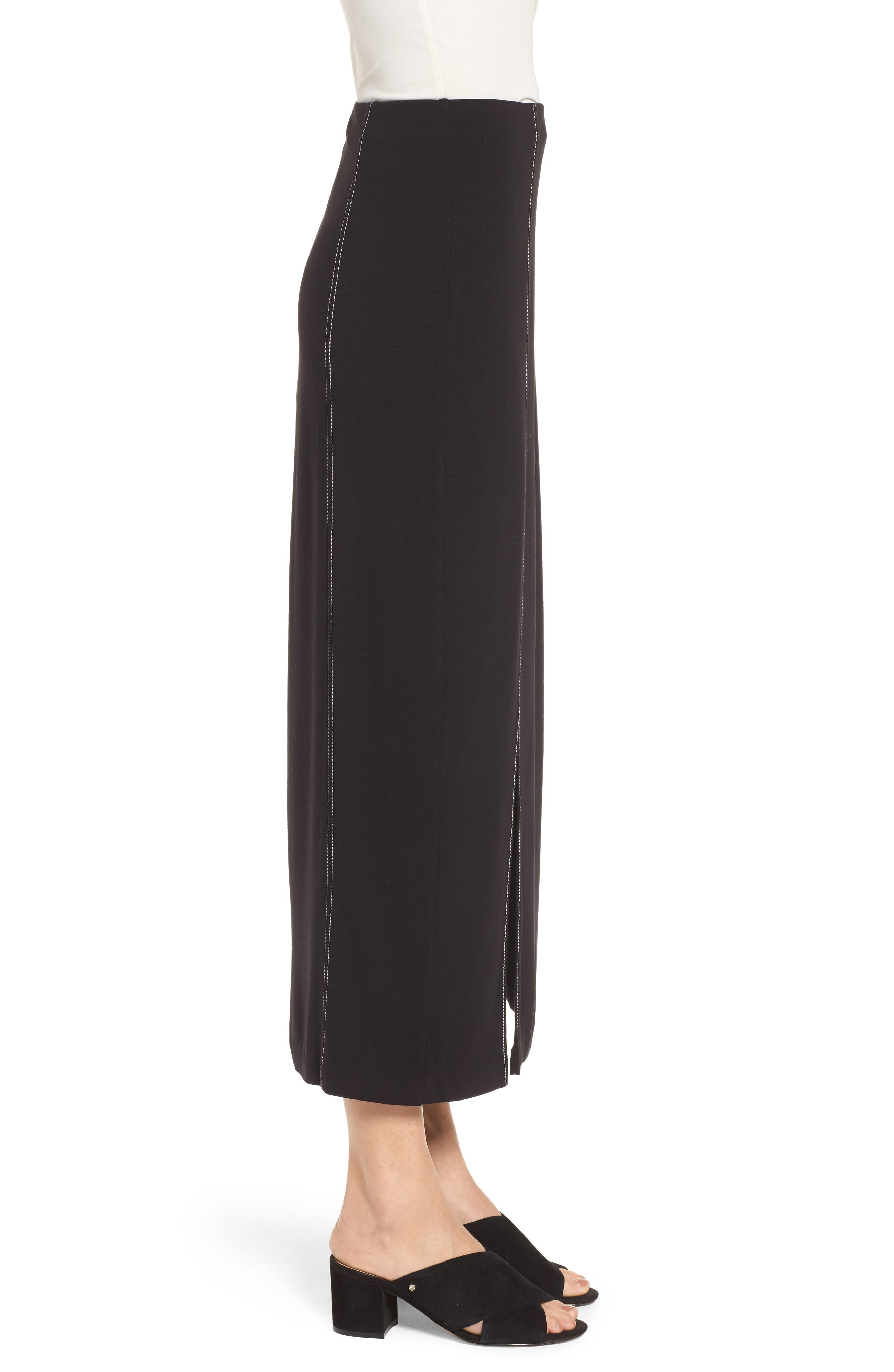 Break Out Maxi Skirt,                             Alternate thumbnail 3, color,                             Black Onyx