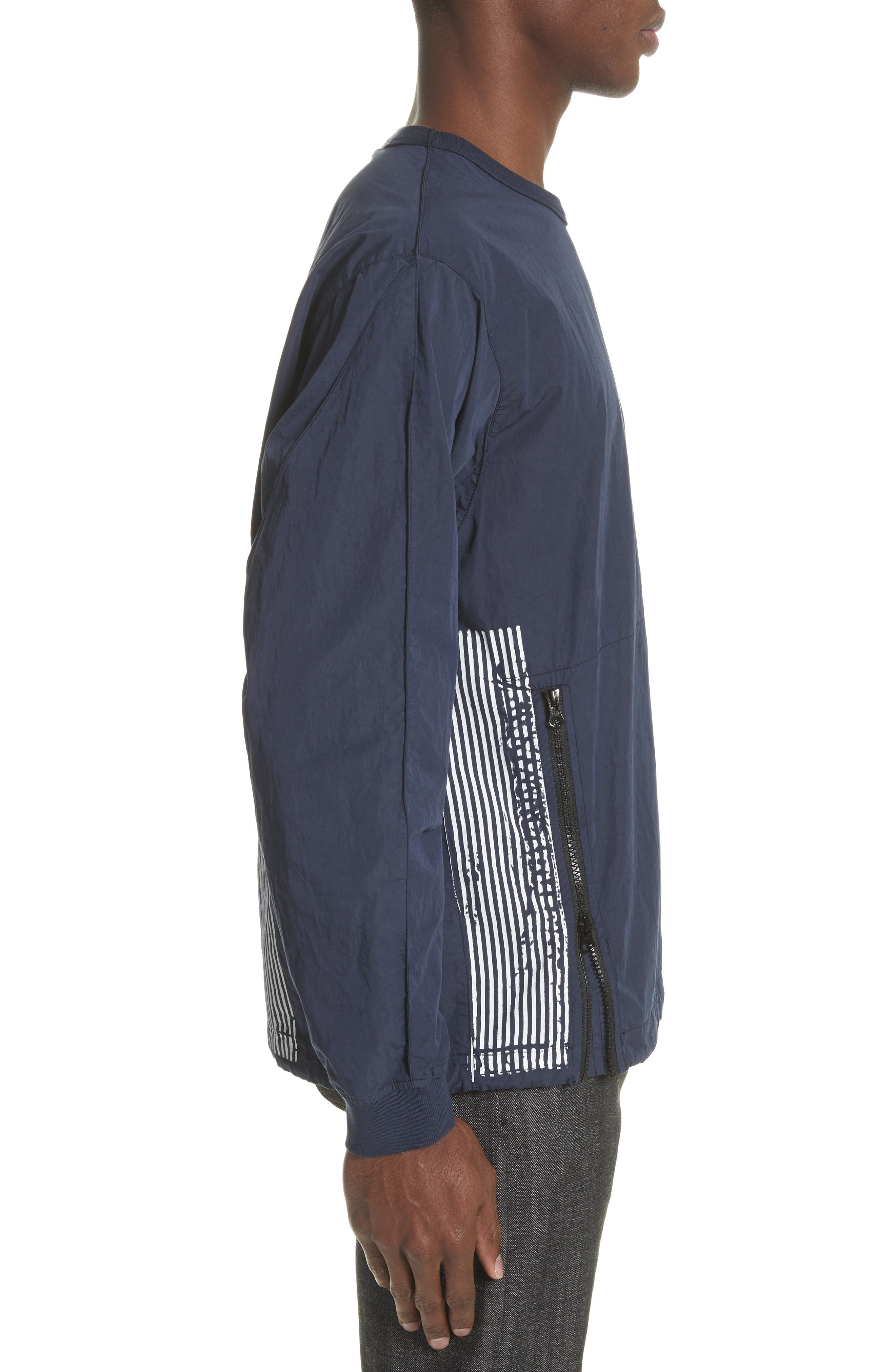 Marina Stripe Sweatshirt,                             Alternate thumbnail 3, color,                             Blue