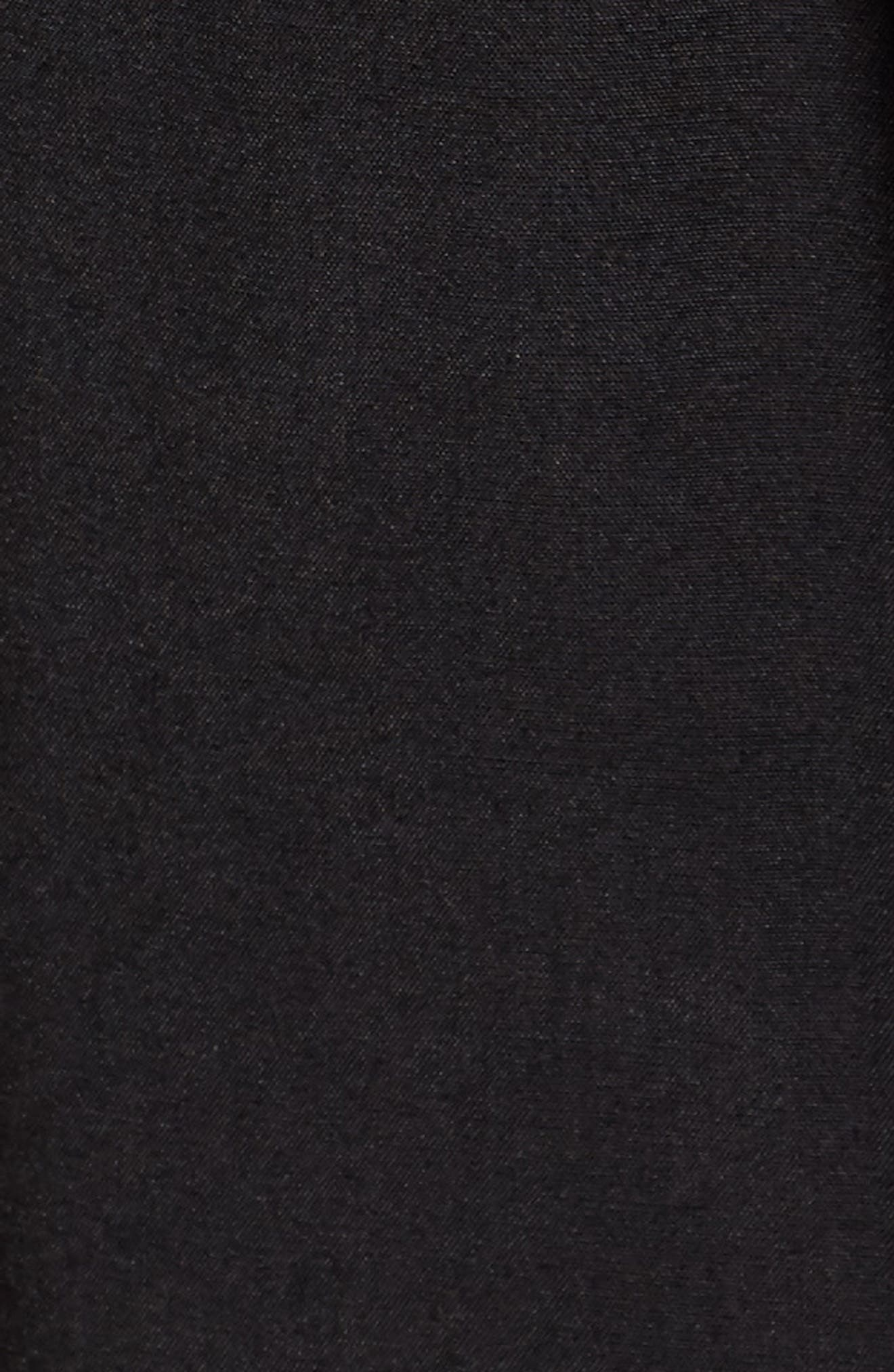 Embroidered Blouson Minidress,                             Alternate thumbnail 5, color,                             Black