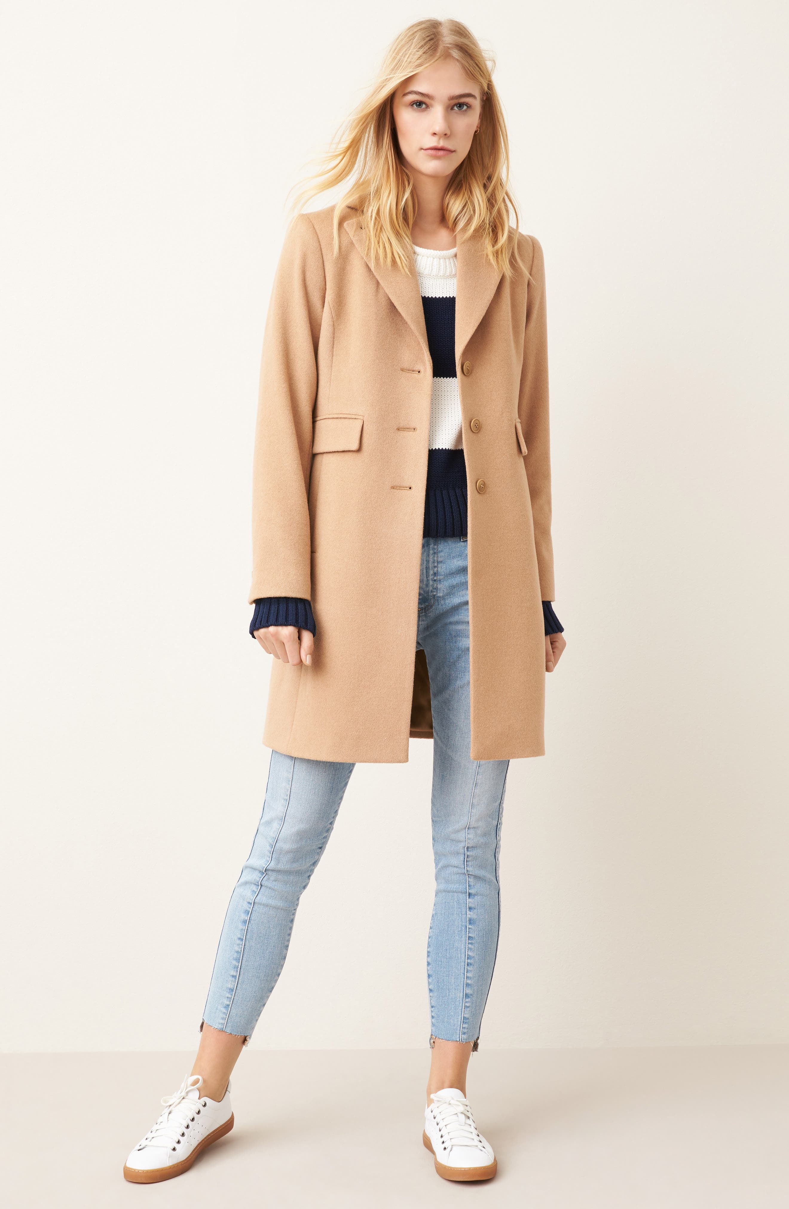 Alternate Image 2  - Kristen Blake Walking Coat (Regular & Petite)