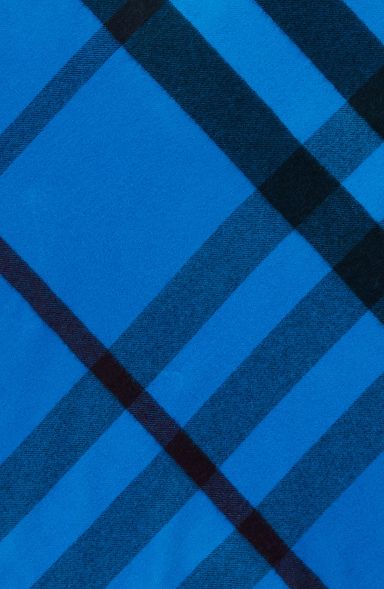 Mega Check Cashmere Scarf,                             Alternate thumbnail 3, color,                             Bright Blue