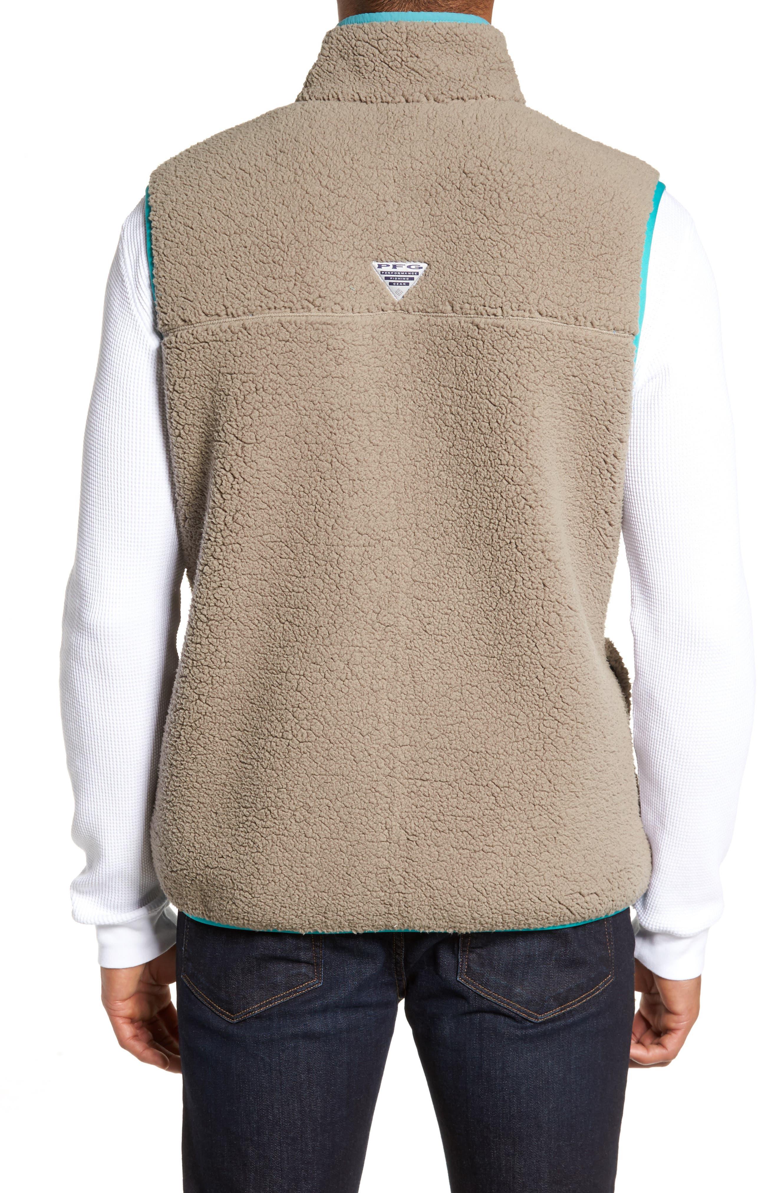Sportswear Harborside Heavyweight Fleece Vest,                             Alternate thumbnail 2, color,                             Kettle/ Teal