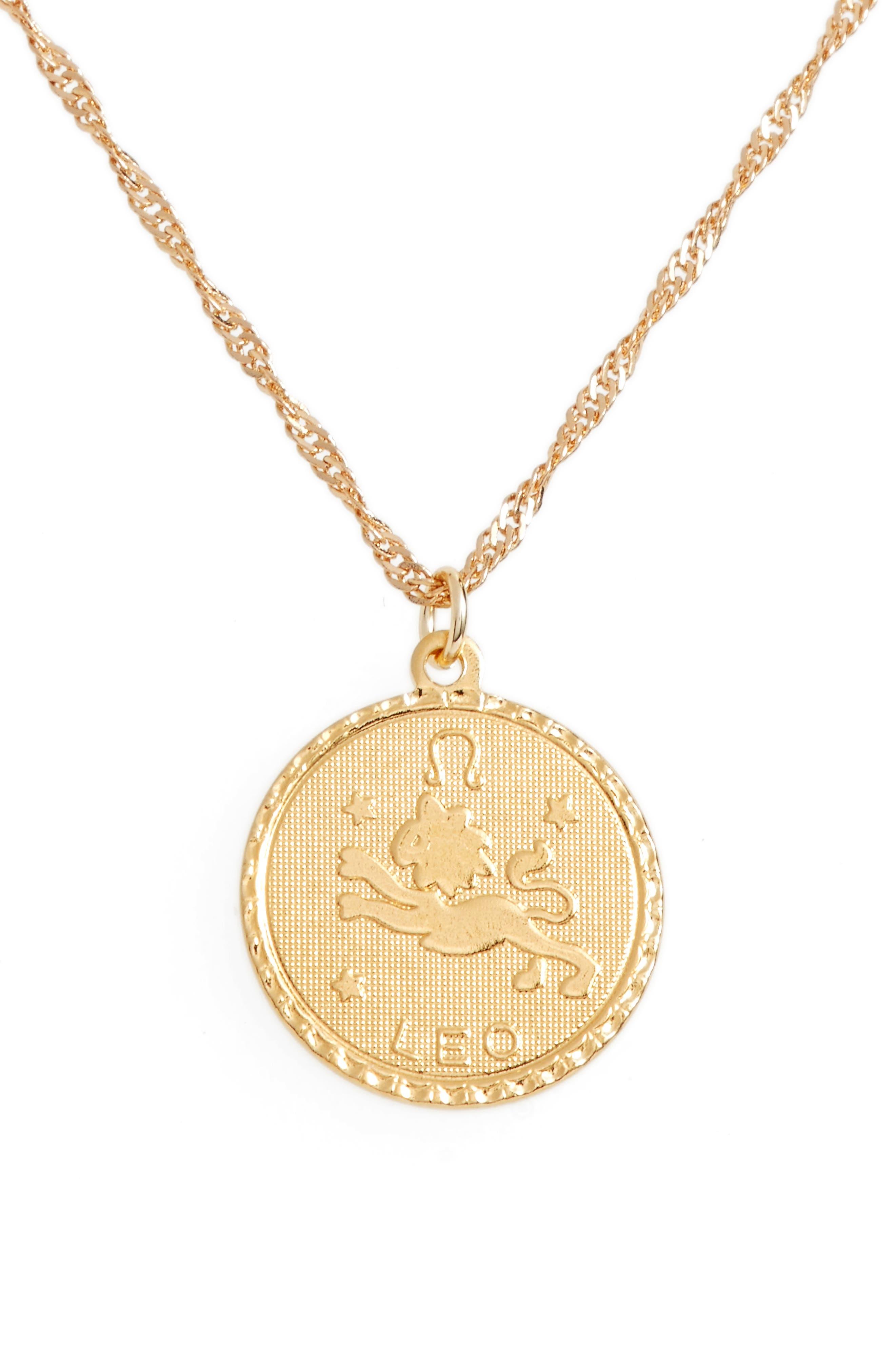 Ascending Leo Pendant Necklace,                         Main,                         color, Yellow Gold