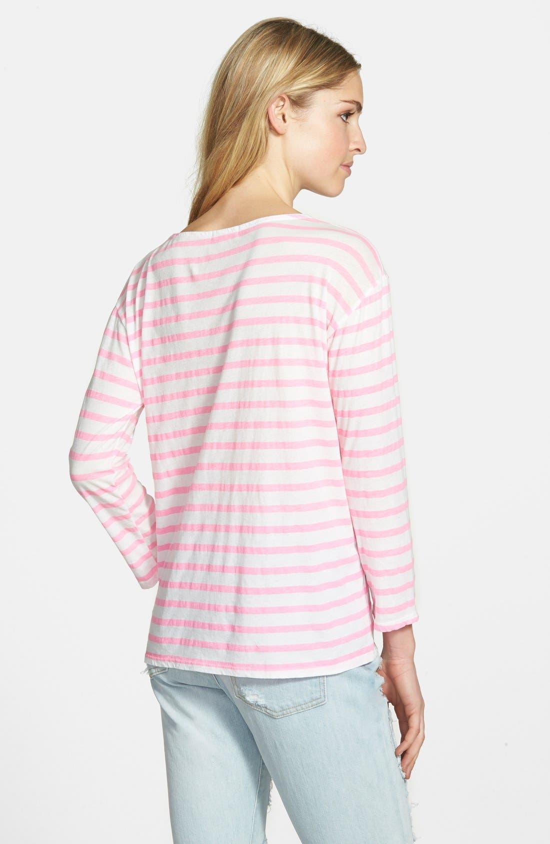 Alternate Image 2  - Sundry Long Sleeve Stripe Tee