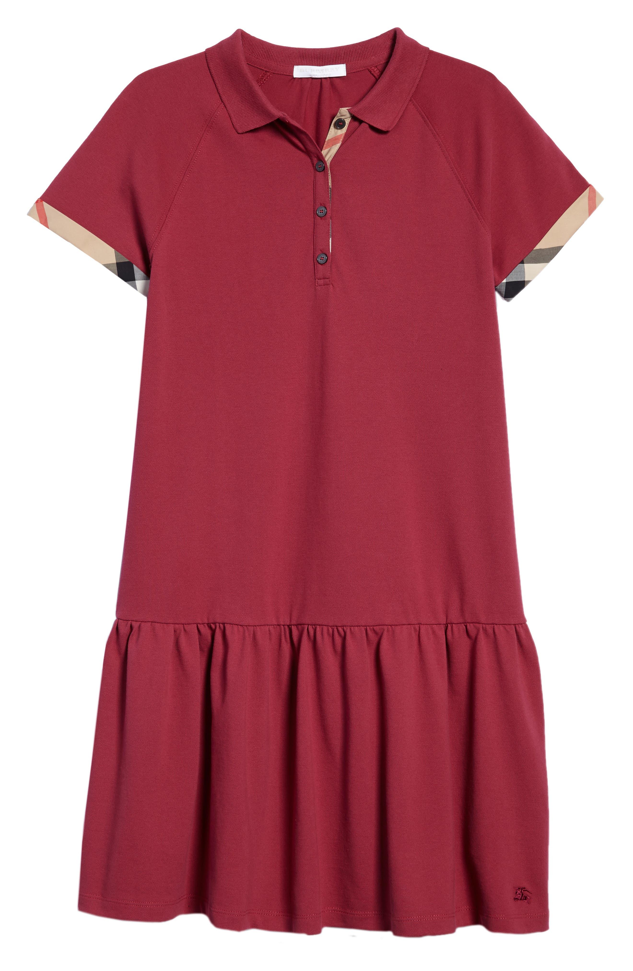 Cali Polo Dress,                         Main,                         color, Garnet Pink