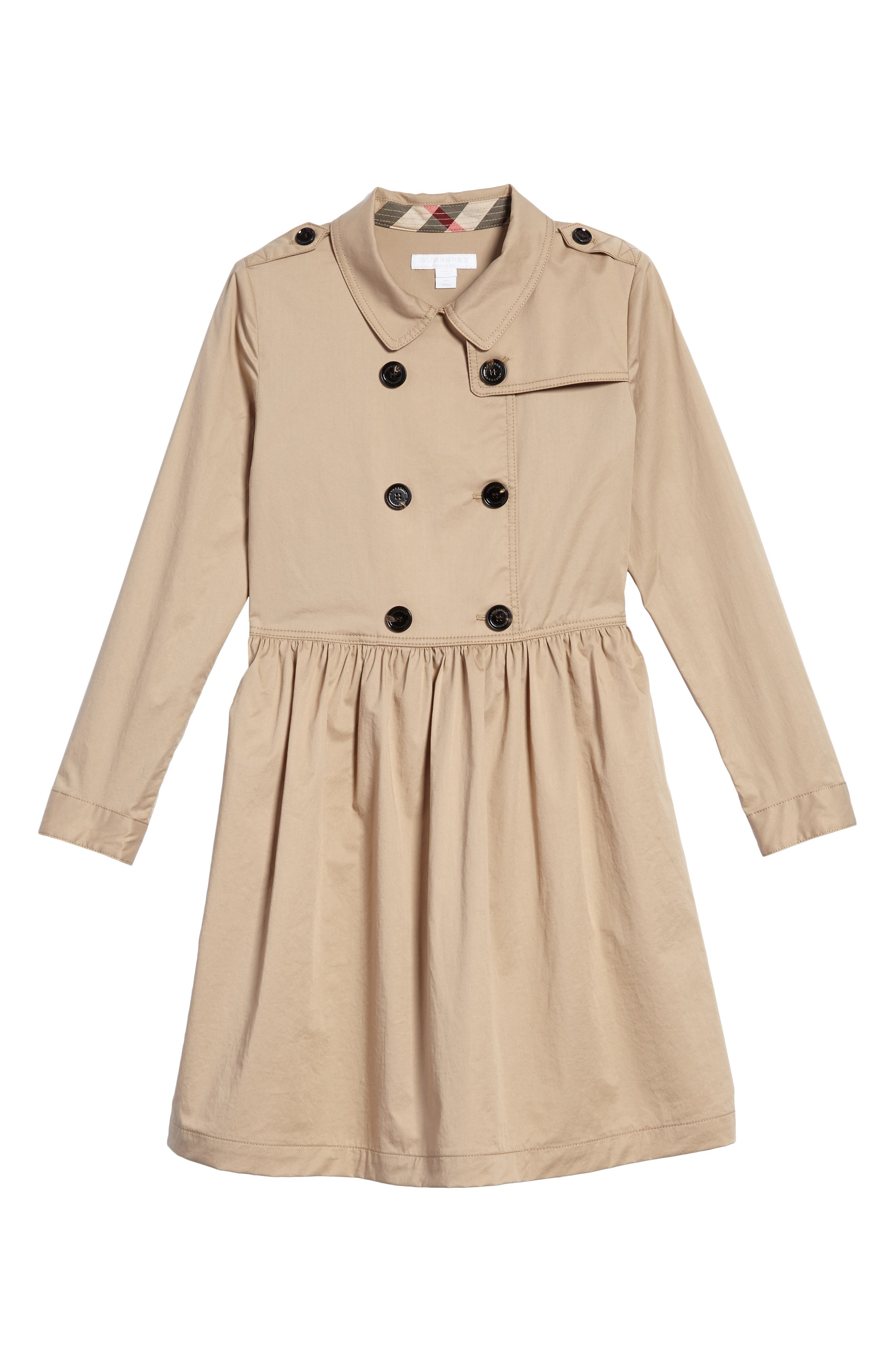 Alternate Image 1 Selected - Burberry Lillyana Trench Dress (Little Girls & Big Girls)