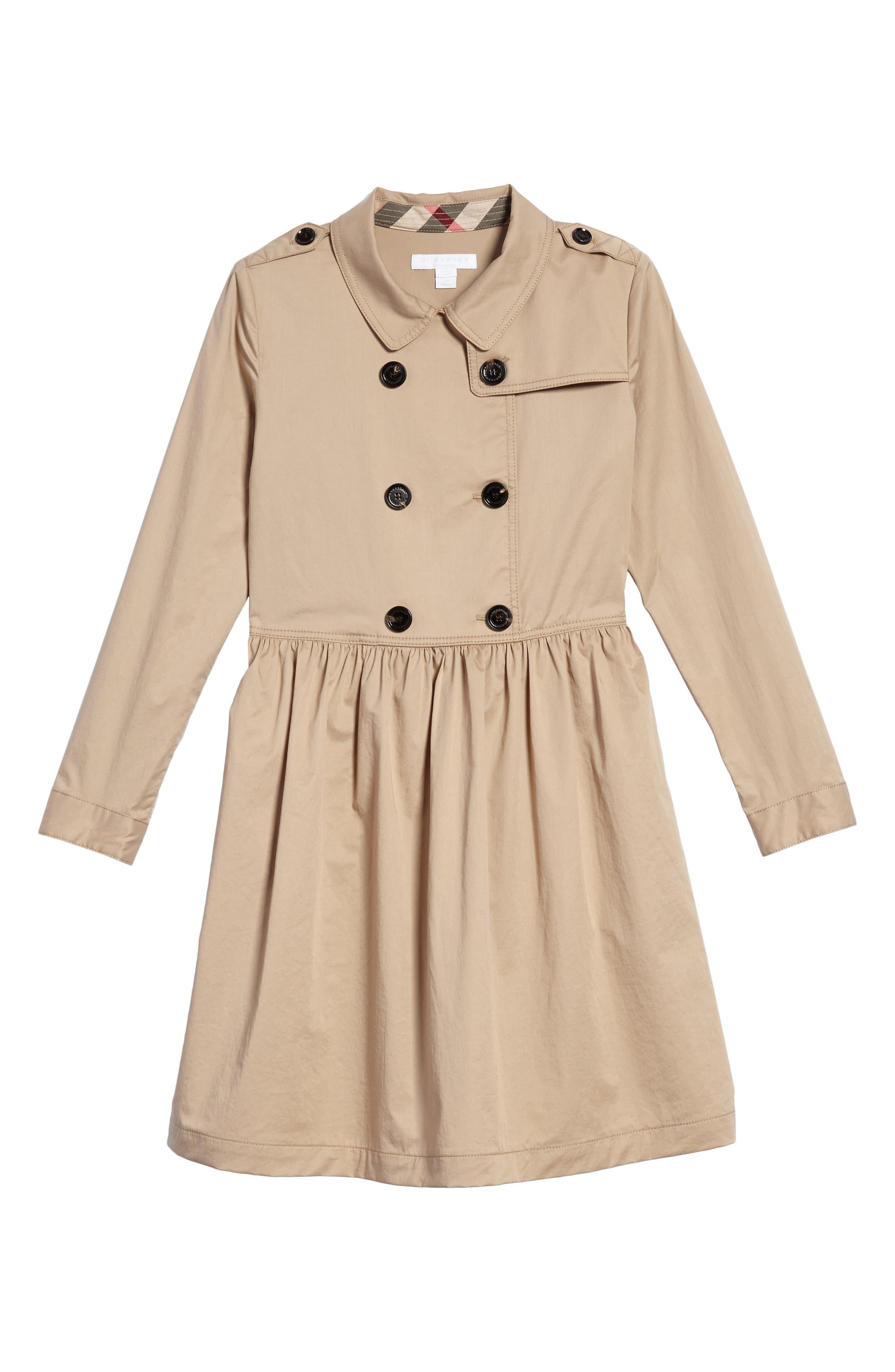 Lillyana Trench Dress,                         Main,                         color, Honey