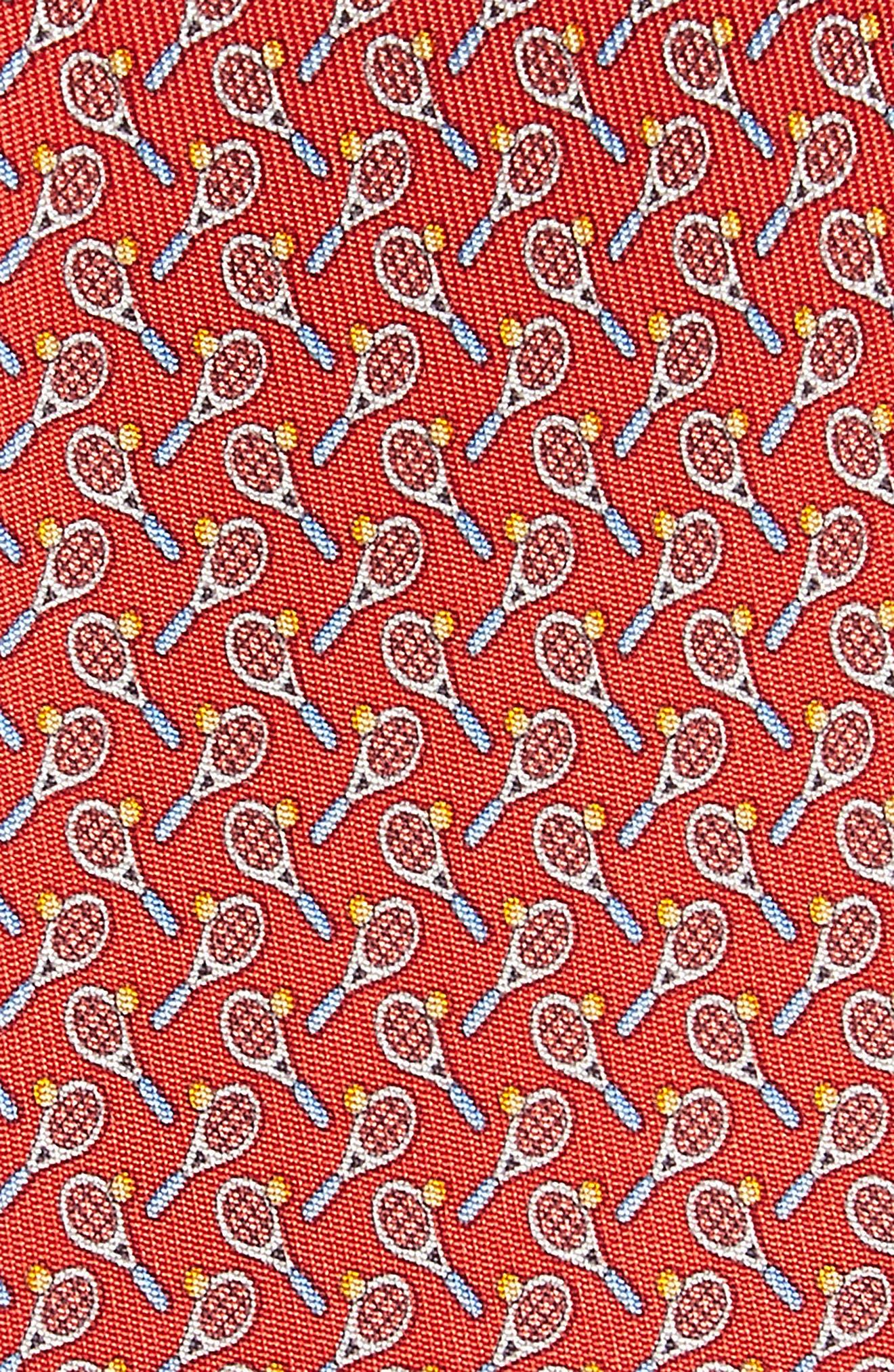 Emma Print Silk Tie,                             Alternate thumbnail 2, color,                             Red