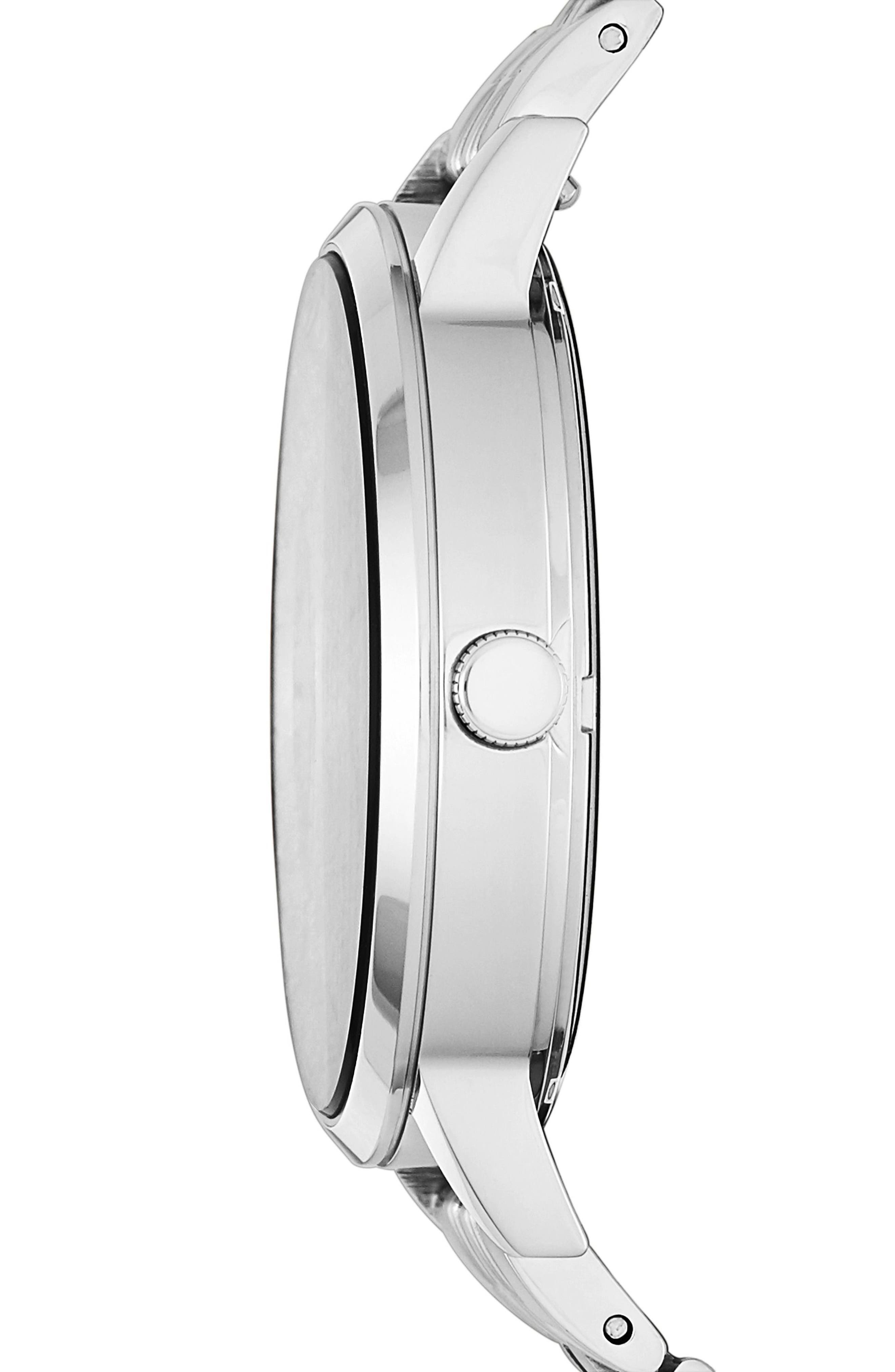 Vintage Muse Crystal Accent Bracelet Watch, 40mm,                             Alternate thumbnail 2, color,                             Silver/ Grey/ Silver