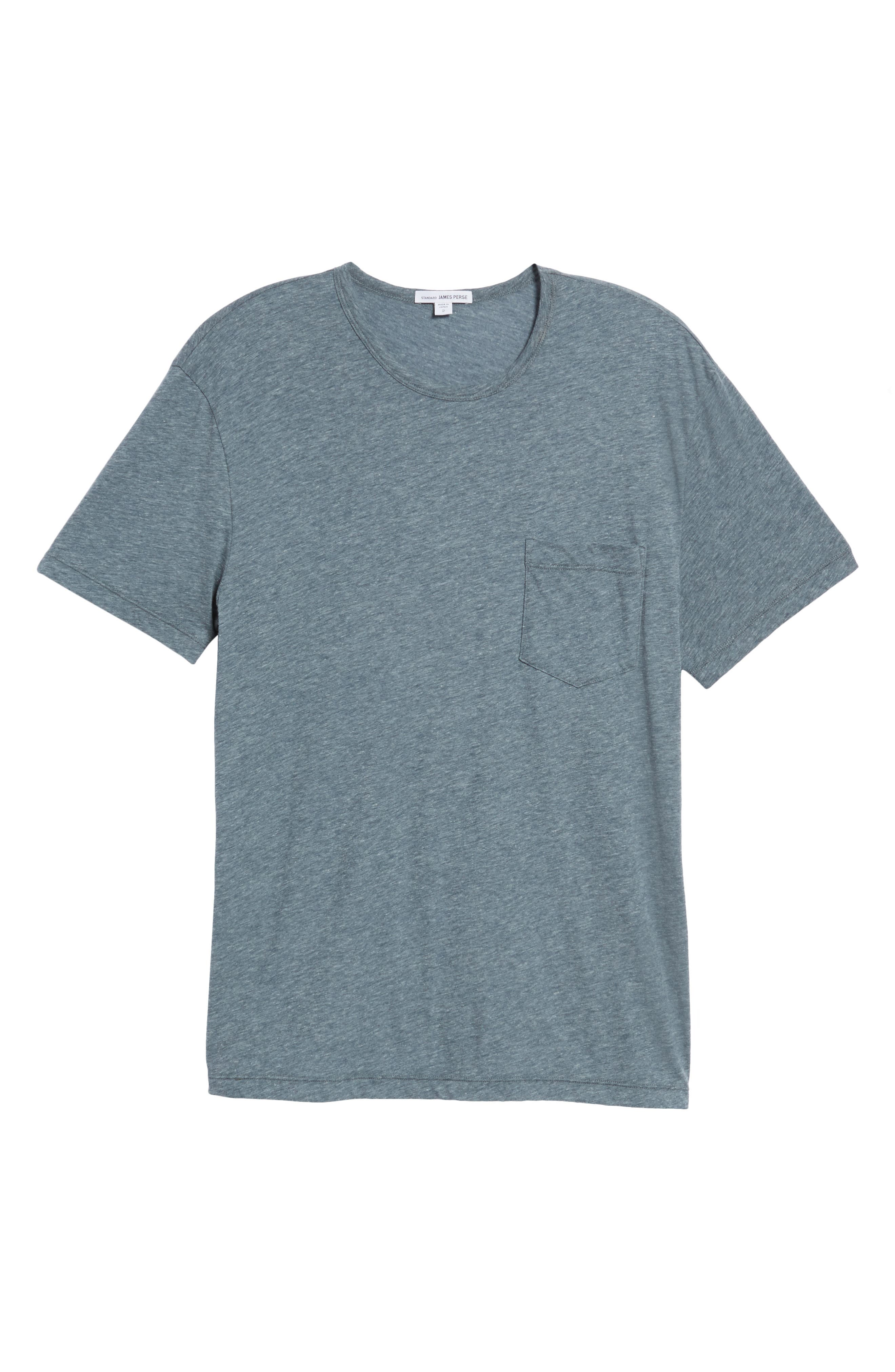 Alternate Image 6  - James Perse Slubbed Cotton & Linen Pocket T-Shirt