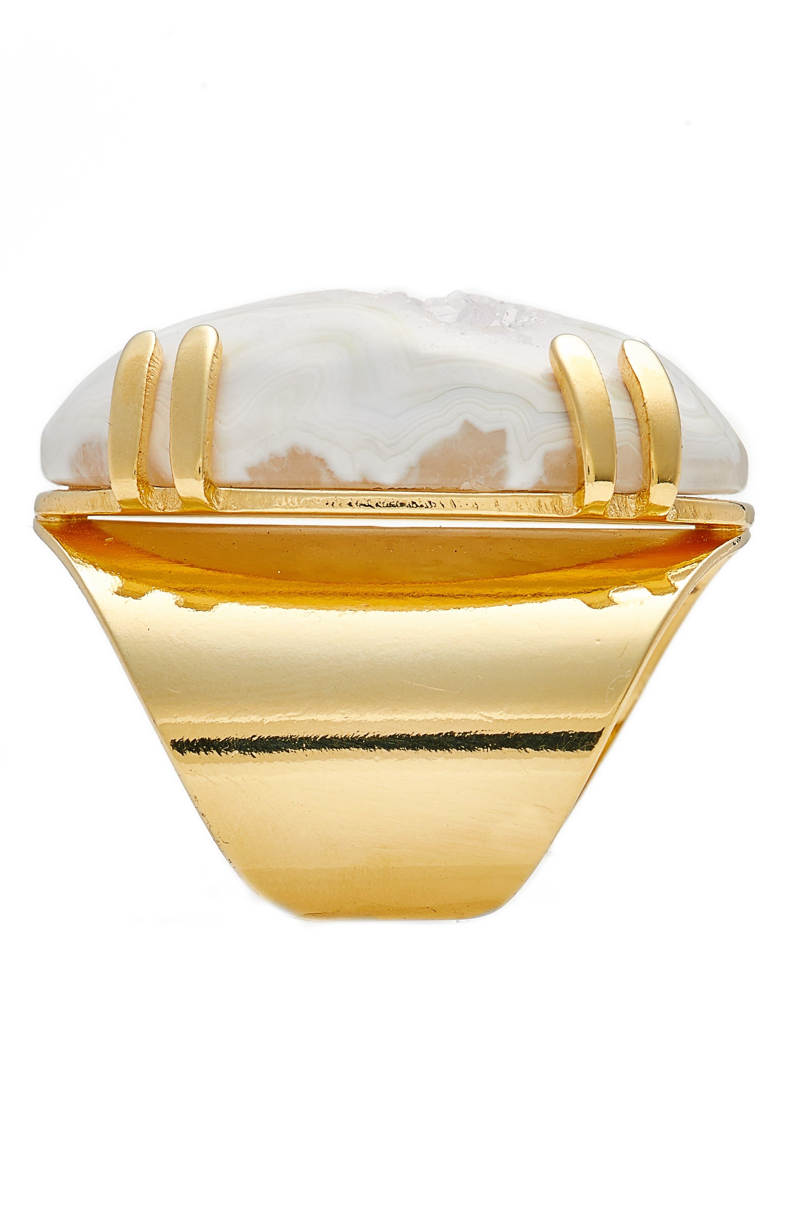 Alternate Image 2  - Nakamol Design Drusy Agate Adjustable Ring