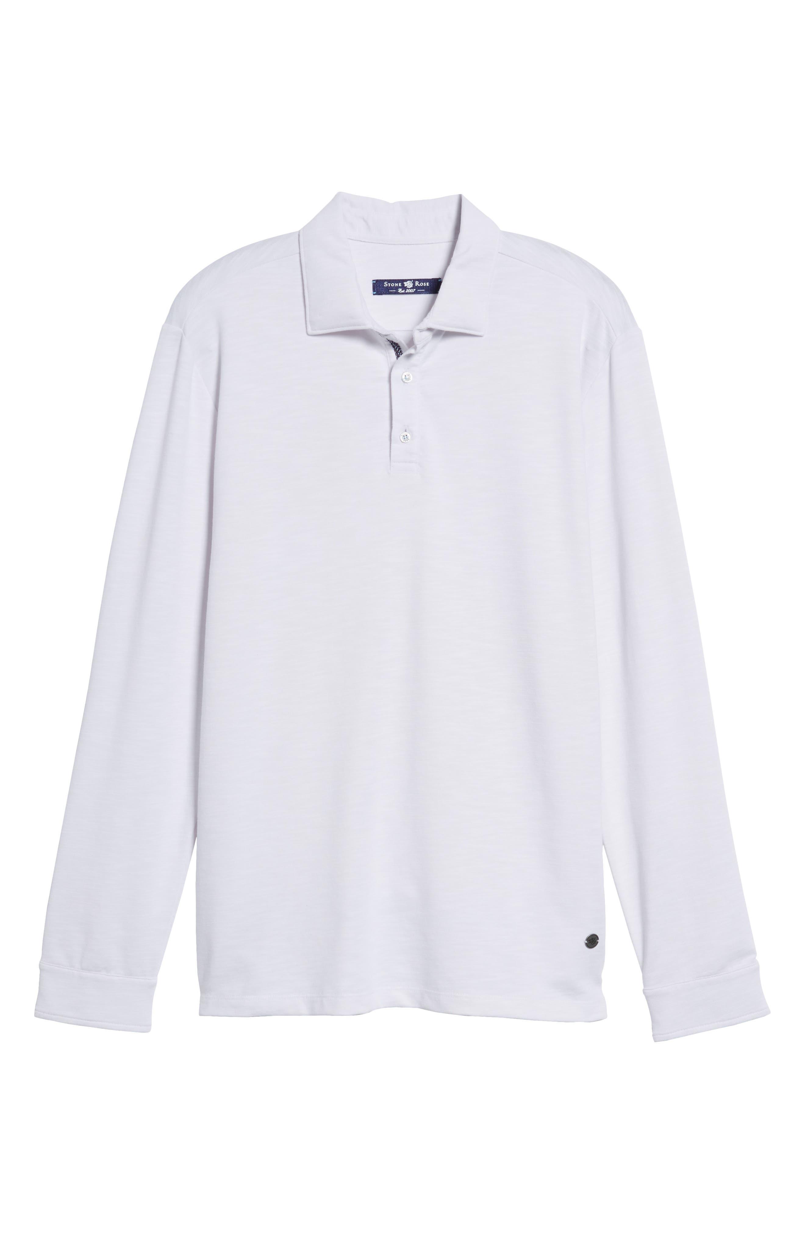 Flame Knit Polo,                             Main thumbnail 1, color,                             White