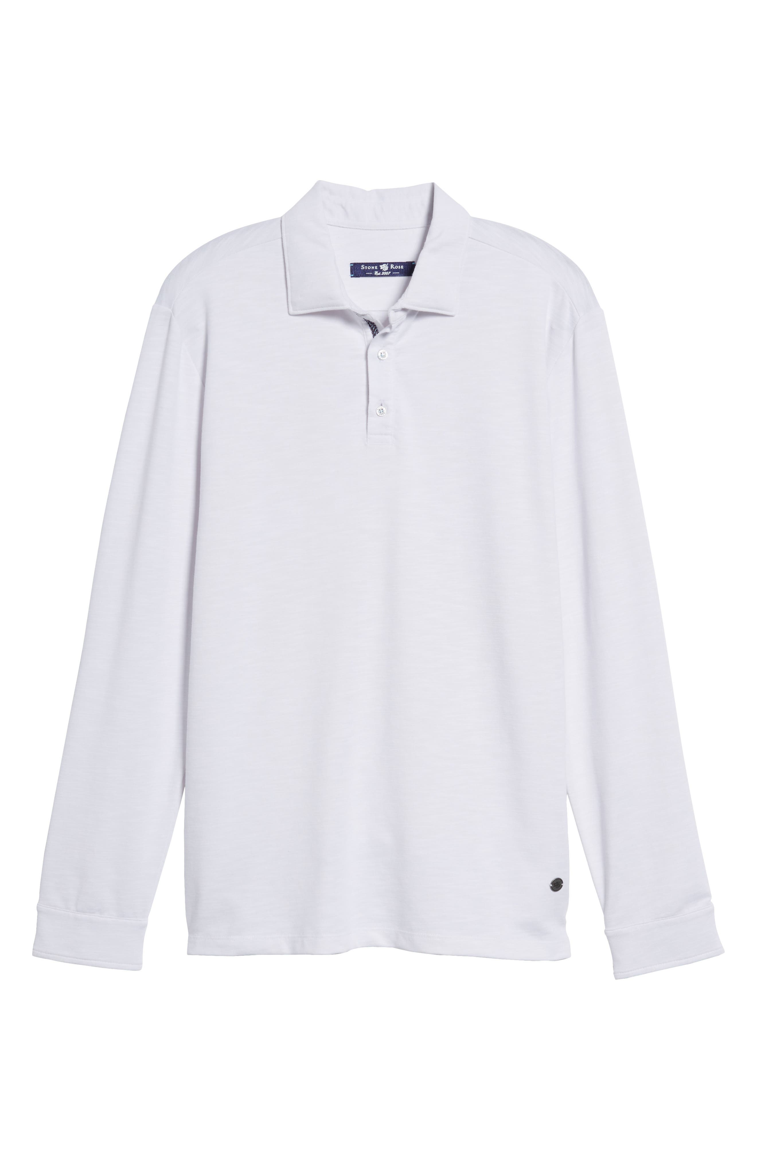 Flame Knit Polo,                         Main,                         color, White