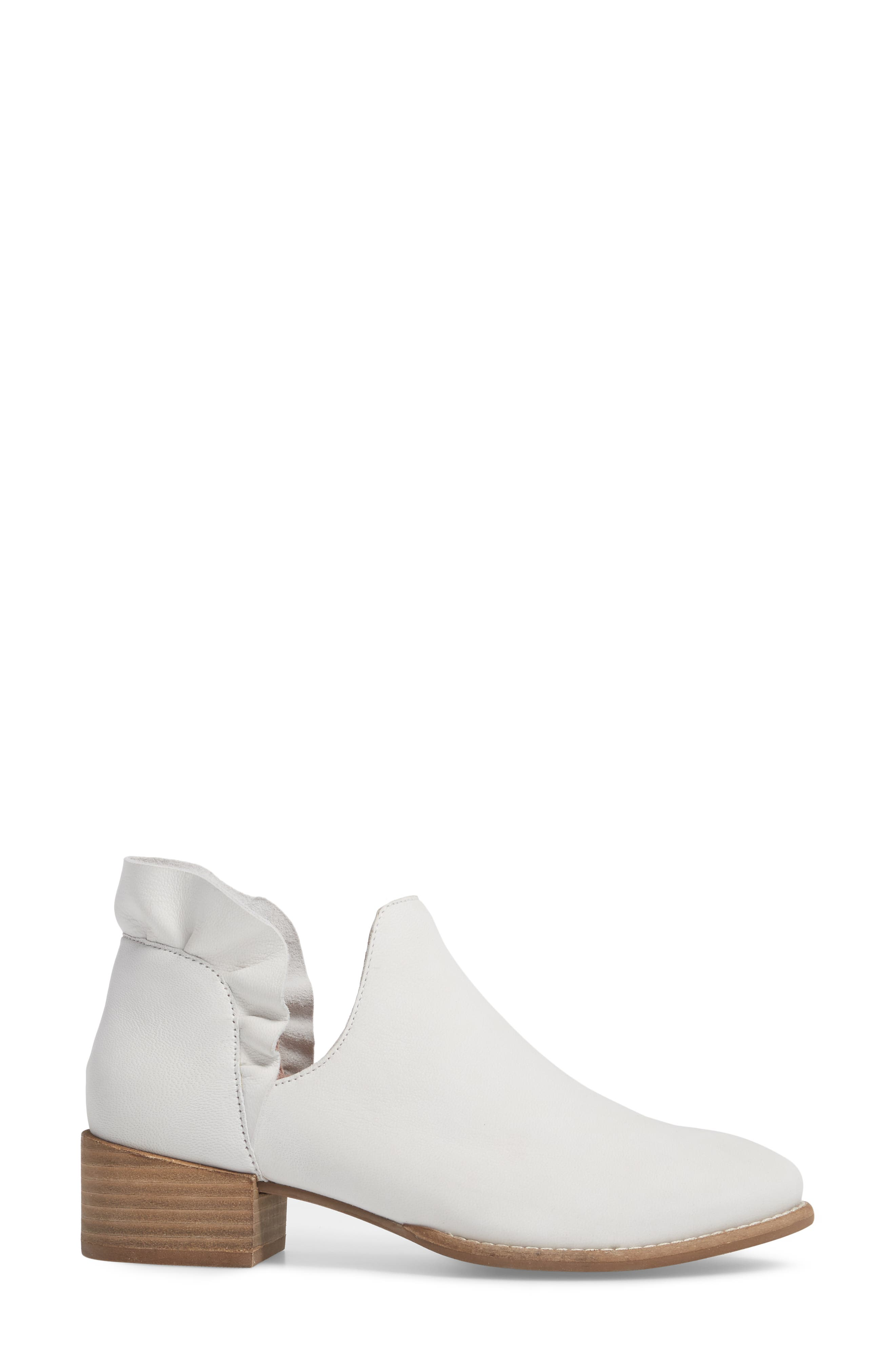 Renowned Bootie,                             Alternate thumbnail 3, color,                             White Nubuck