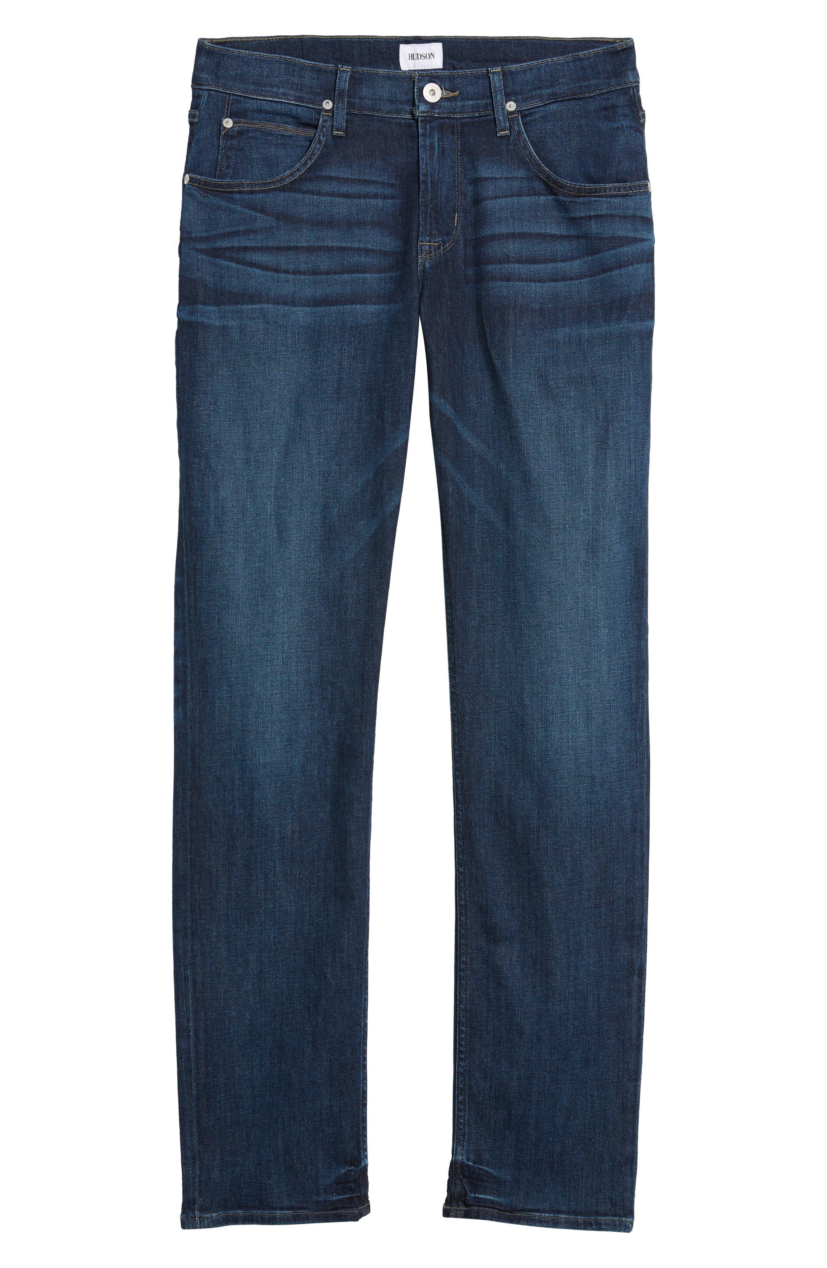 Alternate Image 6  - Hudson Jeans Byron Slim Straight Fit Jeans (Draper)
