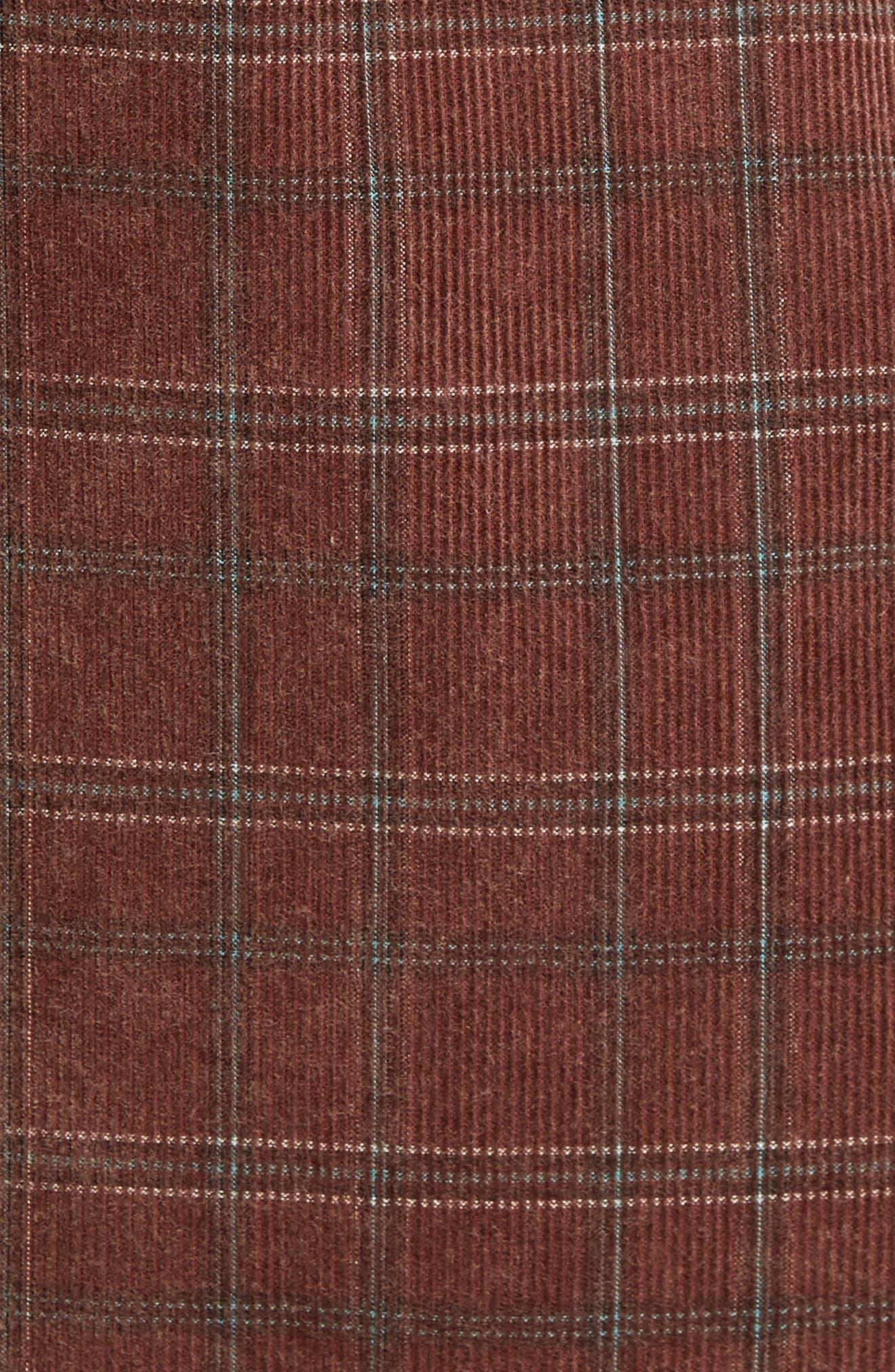 Bradley Corduroy Shirt,                             Alternate thumbnail 5, color,                             Burgundy