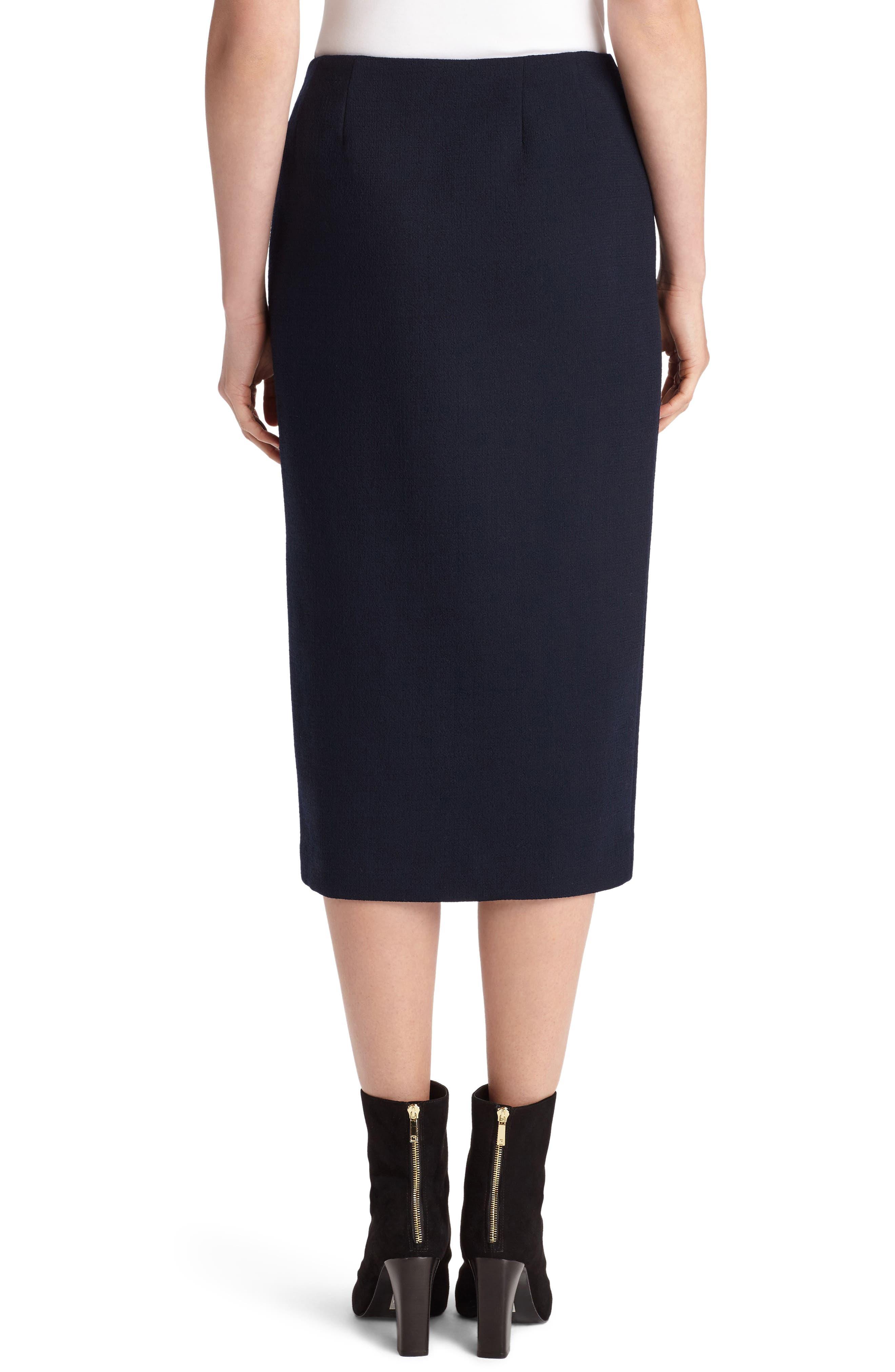 Lucina Nouveau Crepe Skirt,                             Alternate thumbnail 2, color,                             Ink