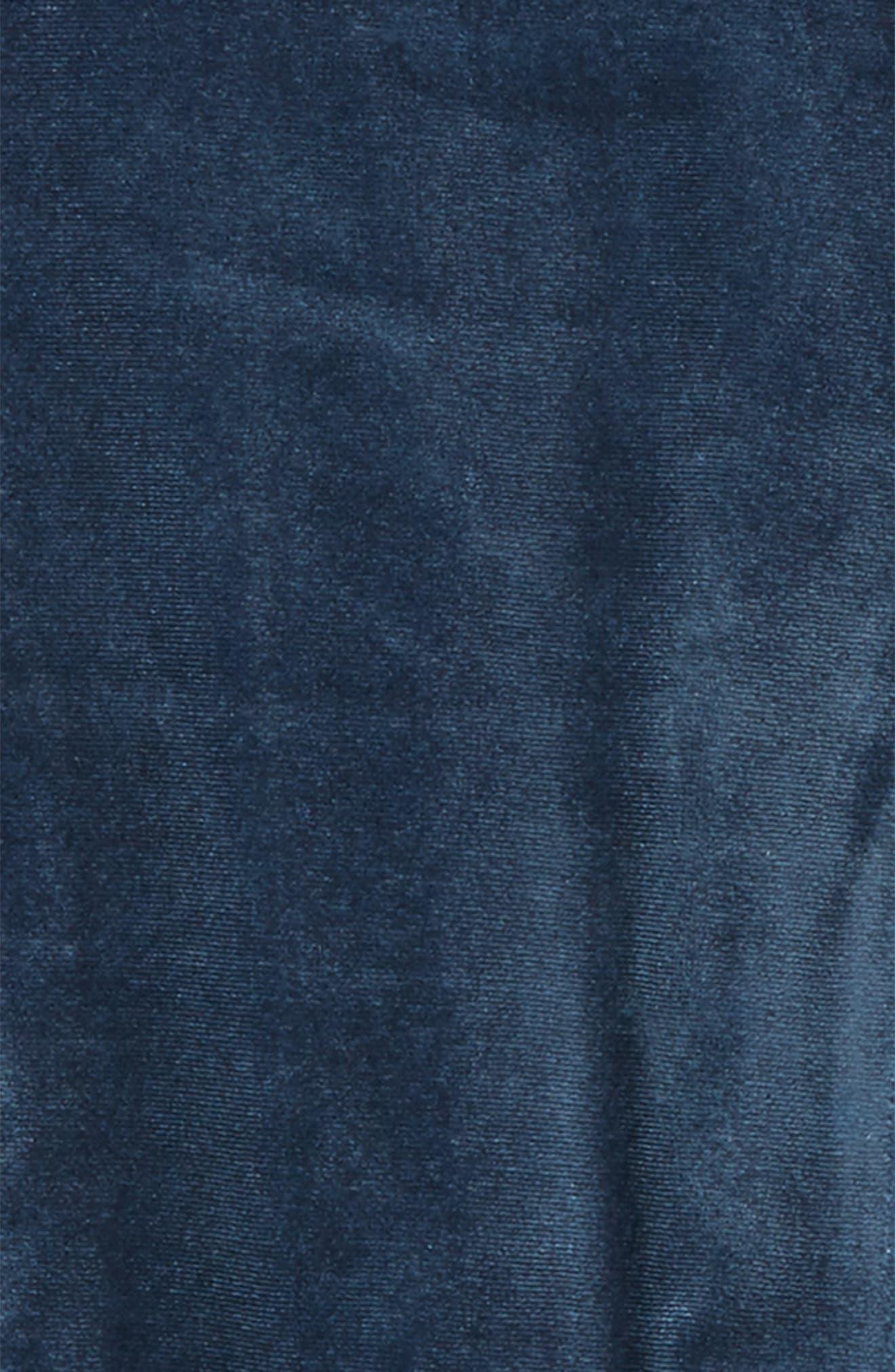 Velour Dress,                             Alternate thumbnail 2, color,                             Blue