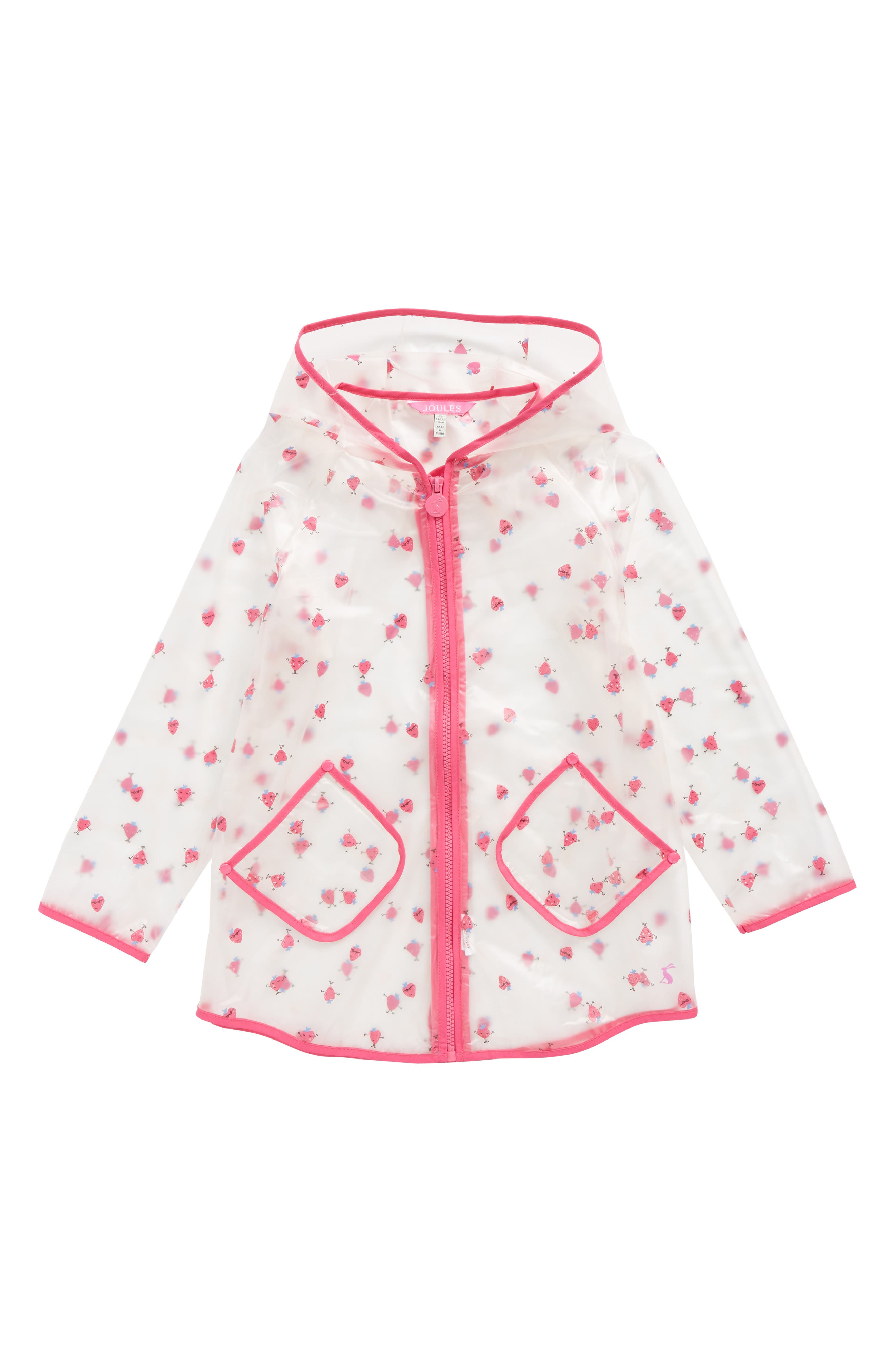 Main Image - Joules Print Sheer Rain Coat (Toddler Girls & Little Girls)