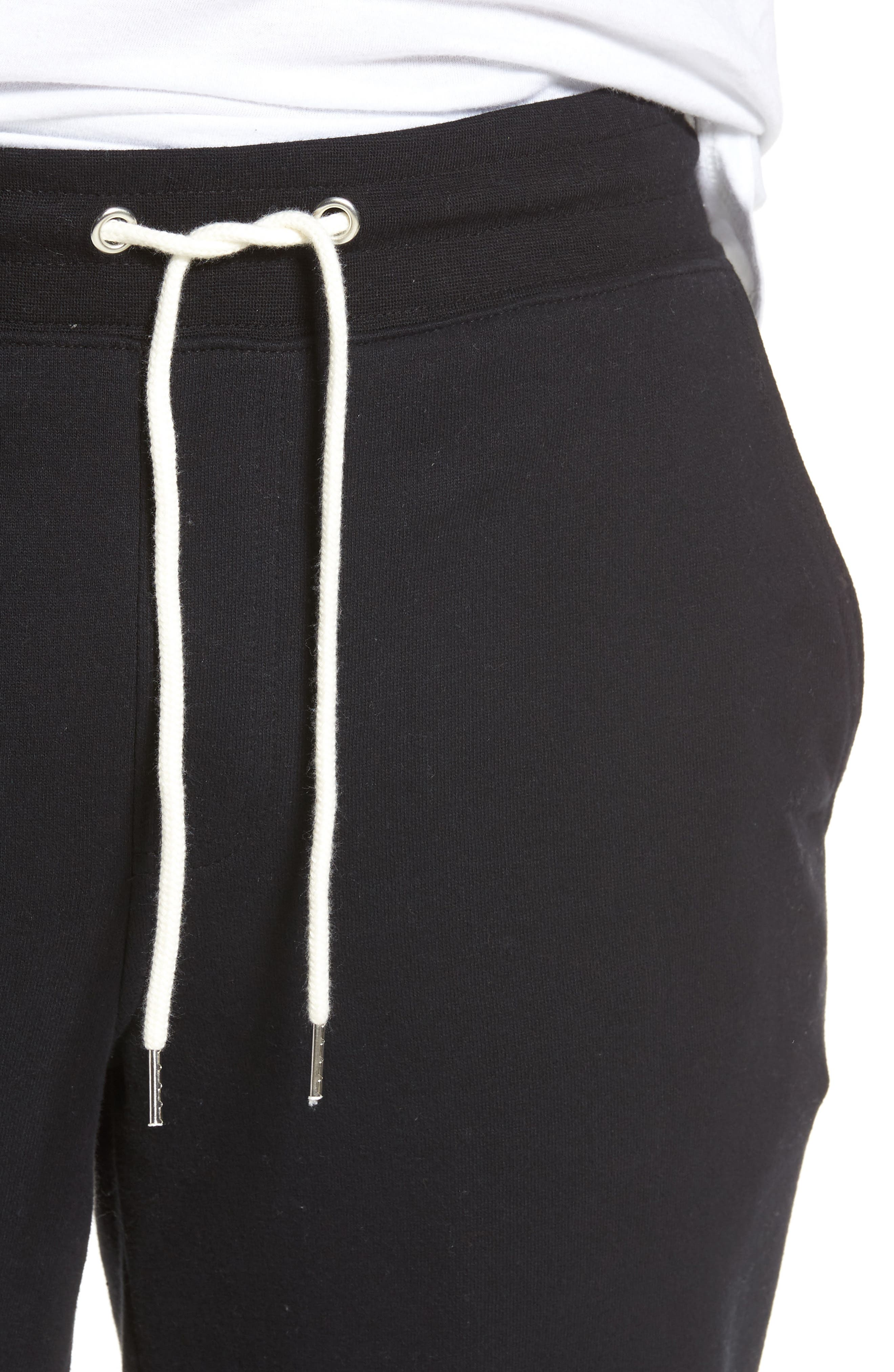 Fleece Jogger Pants,                             Alternate thumbnail 4, color,                             Black Rock
