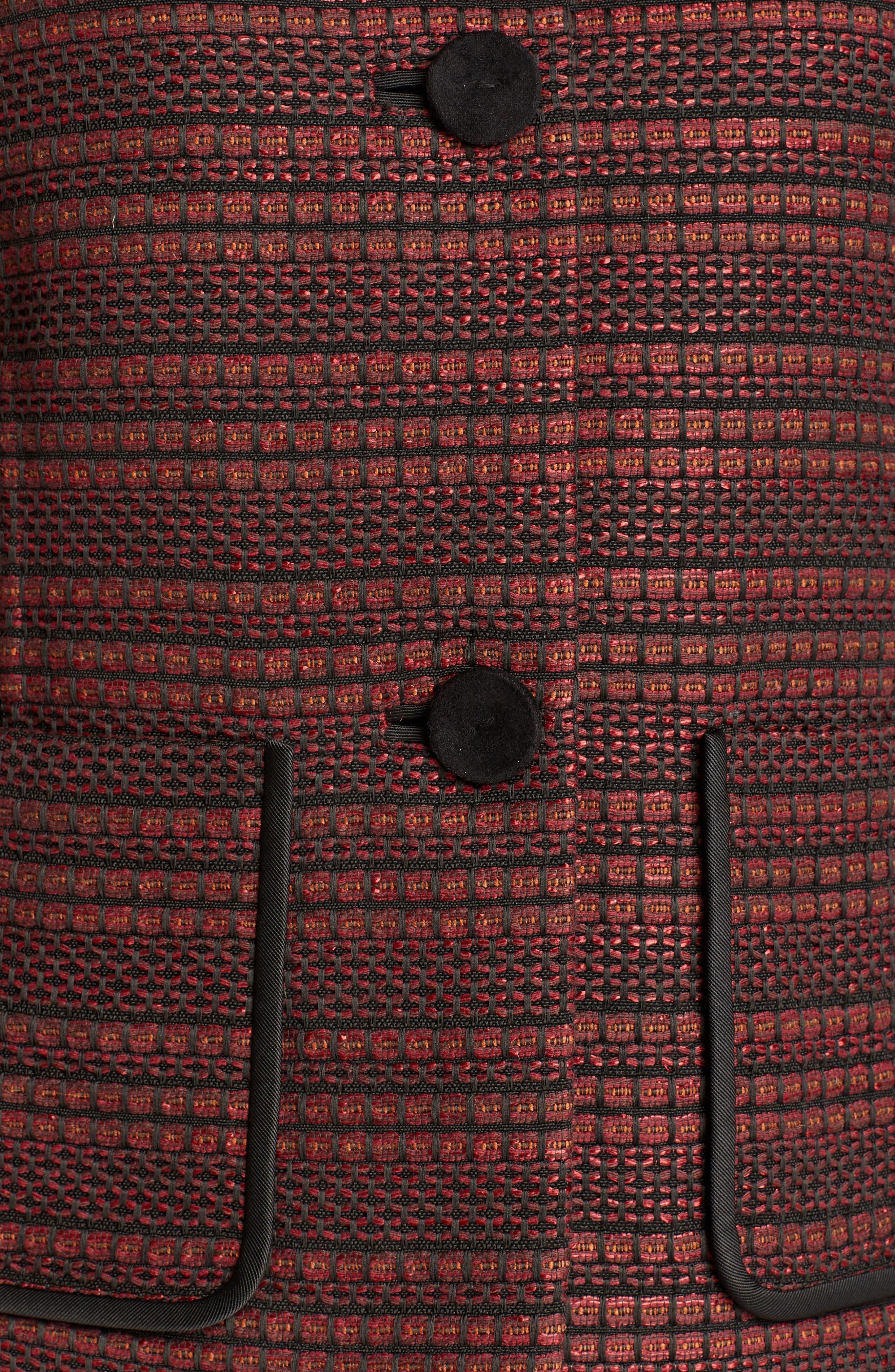 Laurence Venetian Tweed Jacket,                             Alternate thumbnail 5, color,                             Shiraz Multi