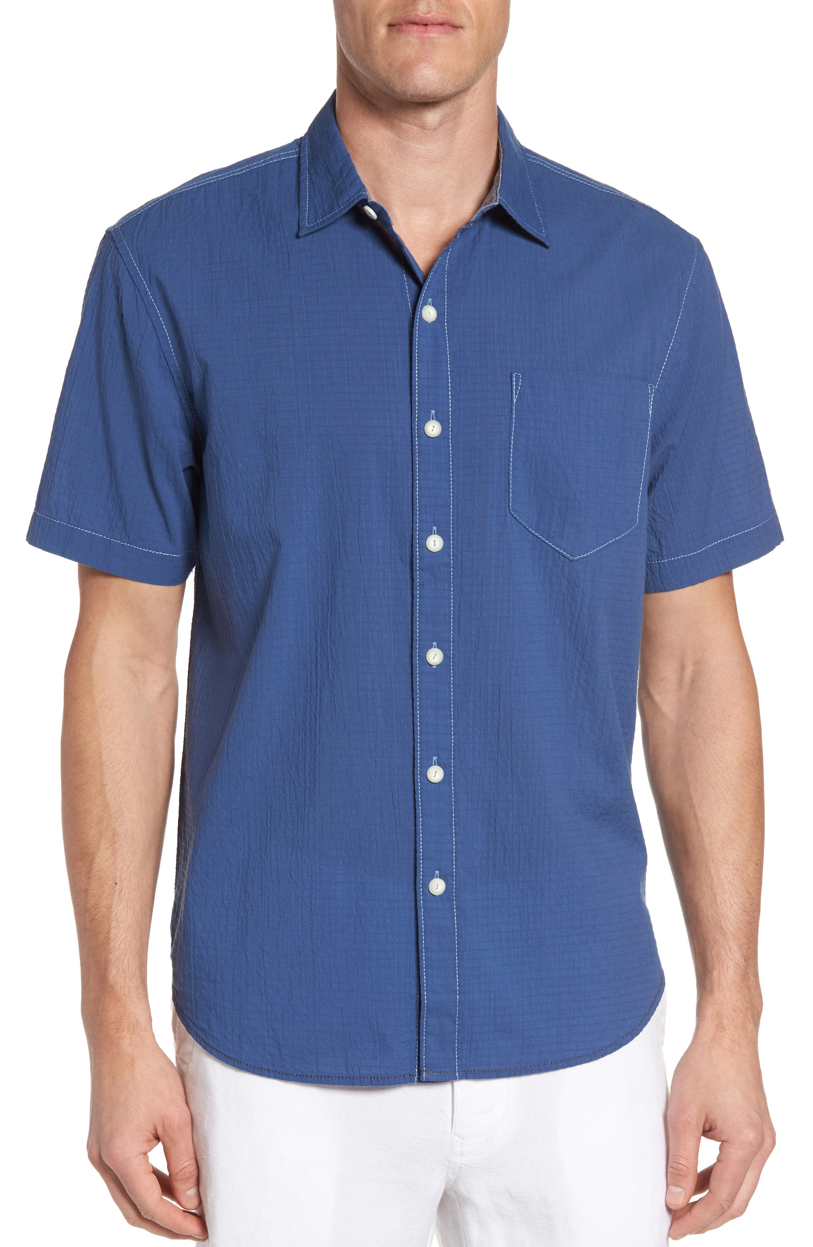The Salvatore Sport Shirt,                         Main,                         color, Dockside Blue