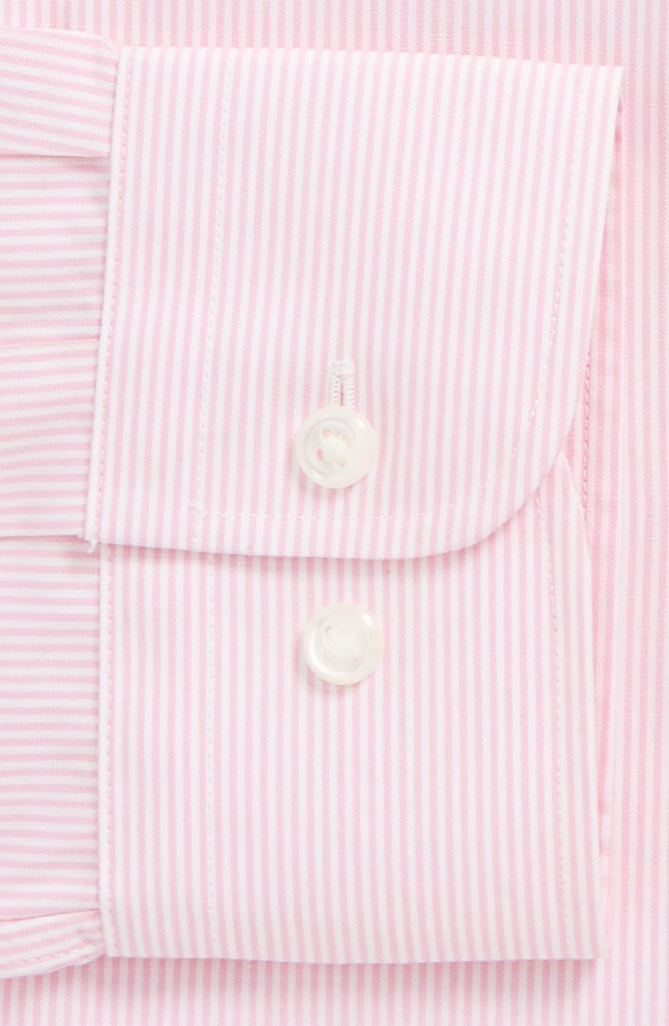 Alternate Image 5  - Nordstrom Men's Shop Smartcare™ Traditional Fit Stripe Dress Shirt